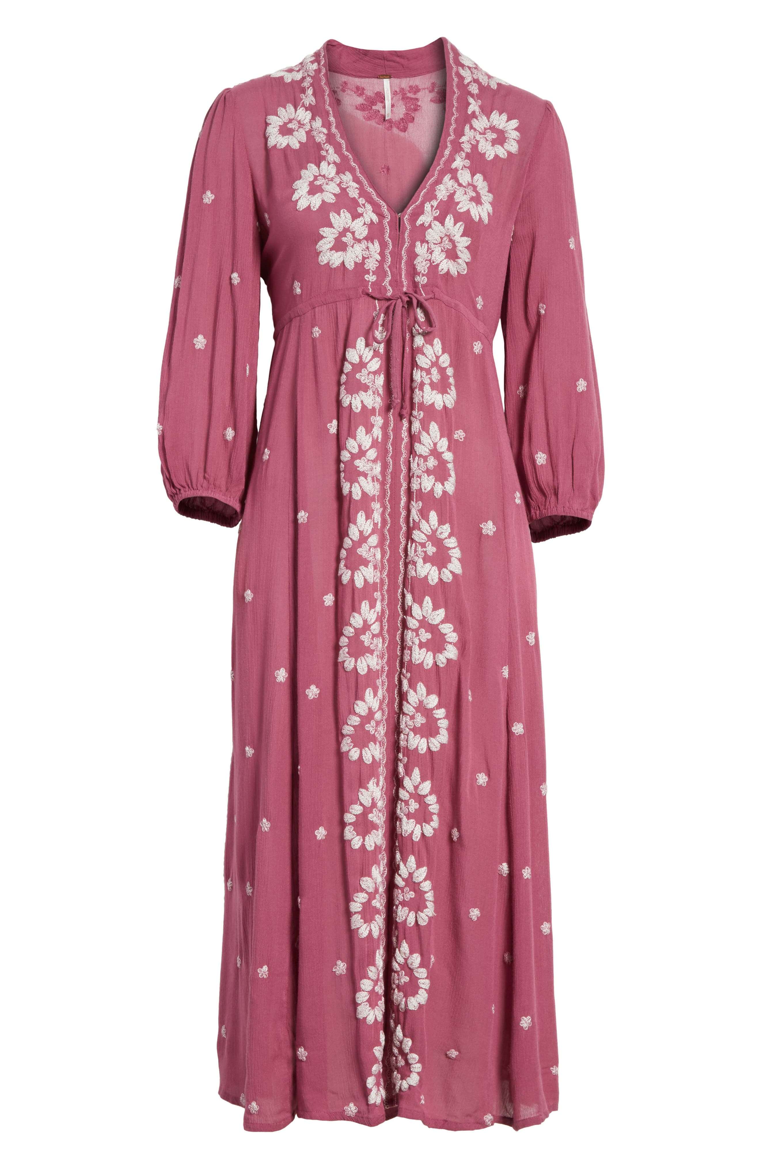 Alternate Image 6  - Free People Embroidered Maxi Dress