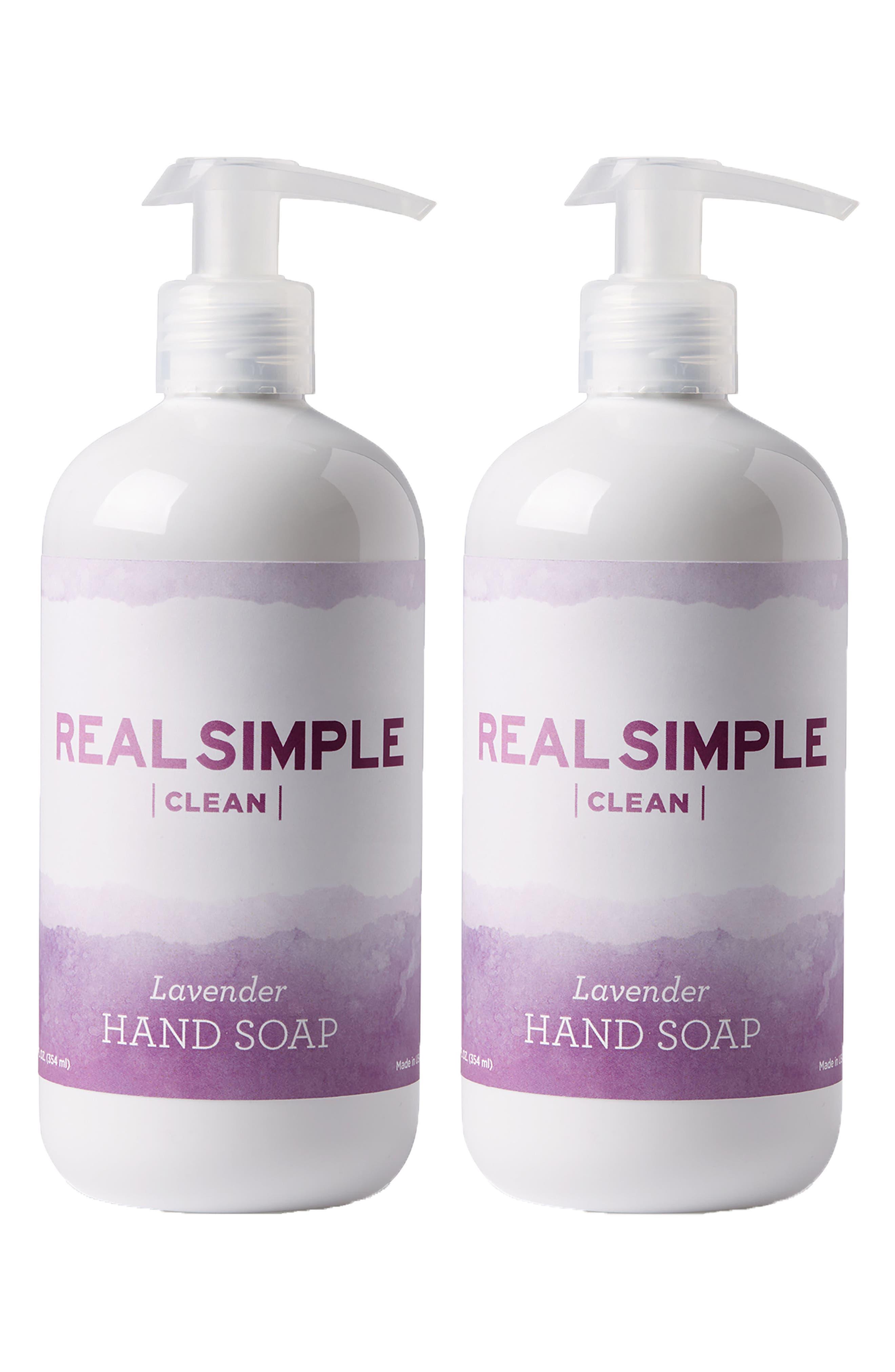 Clean 2-Pack Hand Soap,                         Main,                         color, Lavender