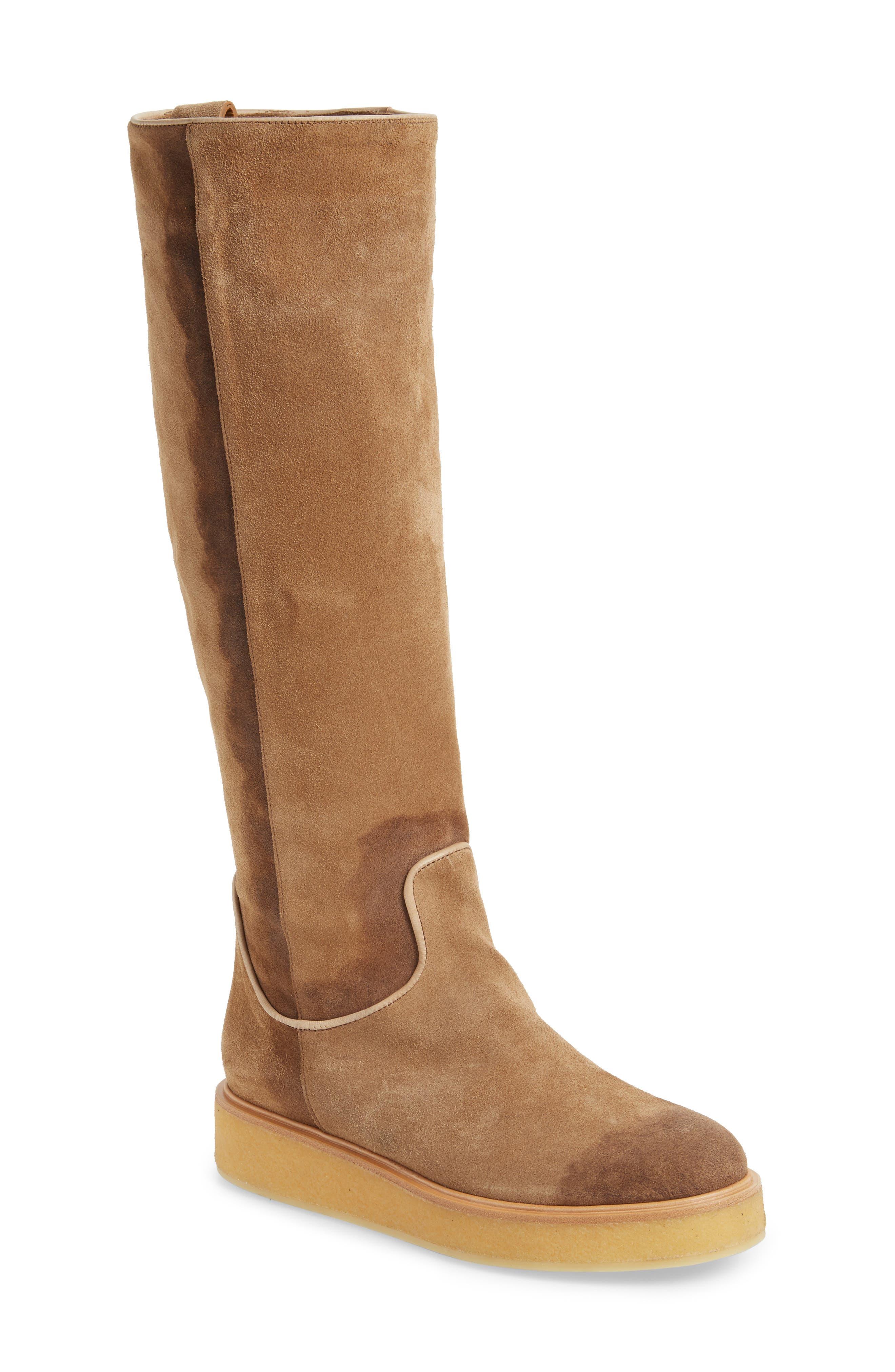 Nerola Knee High Boot,                             Main thumbnail 1, color,                             Sahara