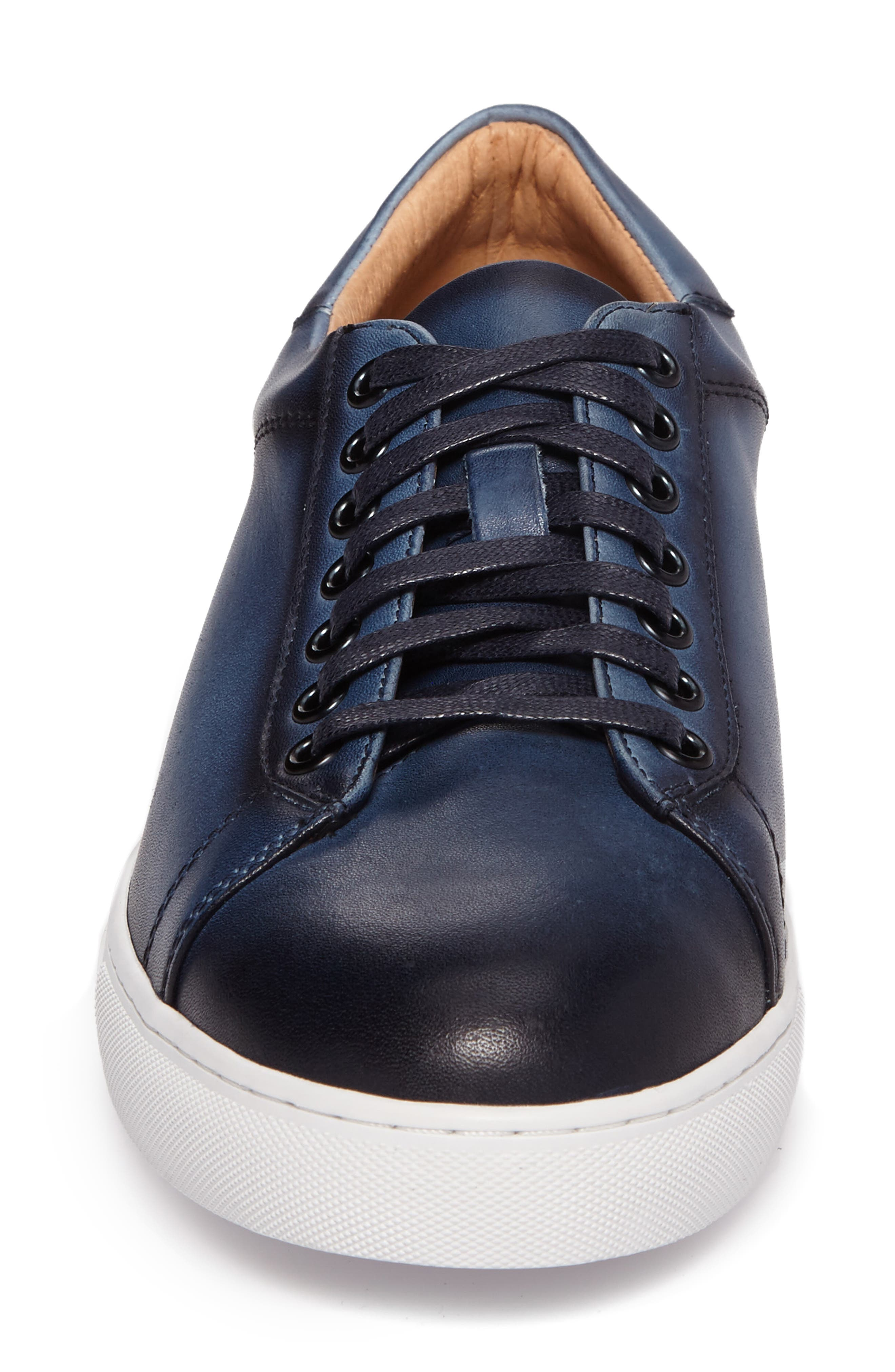 Penrose Sneaker,                             Alternate thumbnail 4, color,                             Blue Leather