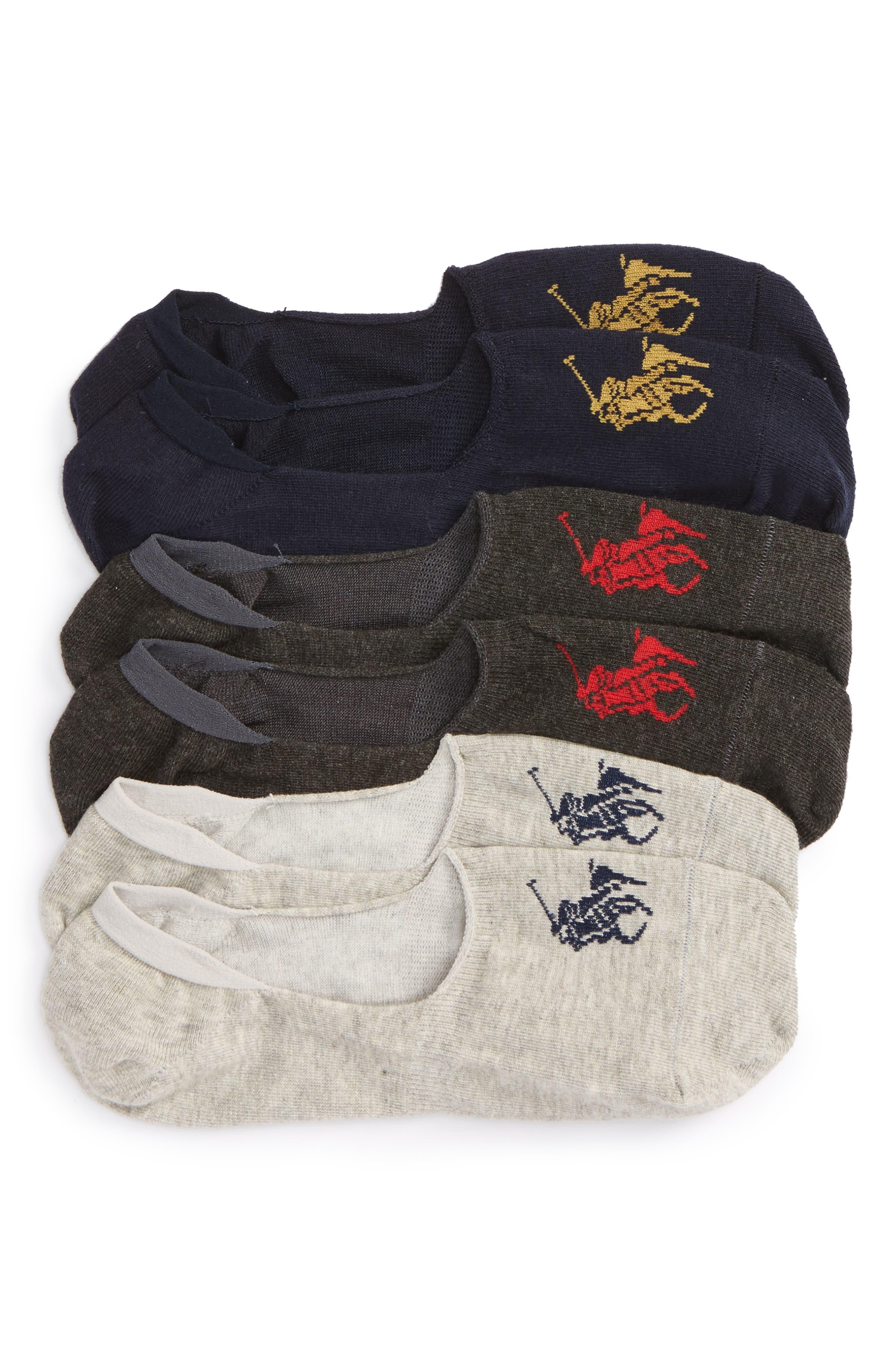 Alternate Image 1 Selected - Polo Ralph Lauren Liner Socks (3-Pack)