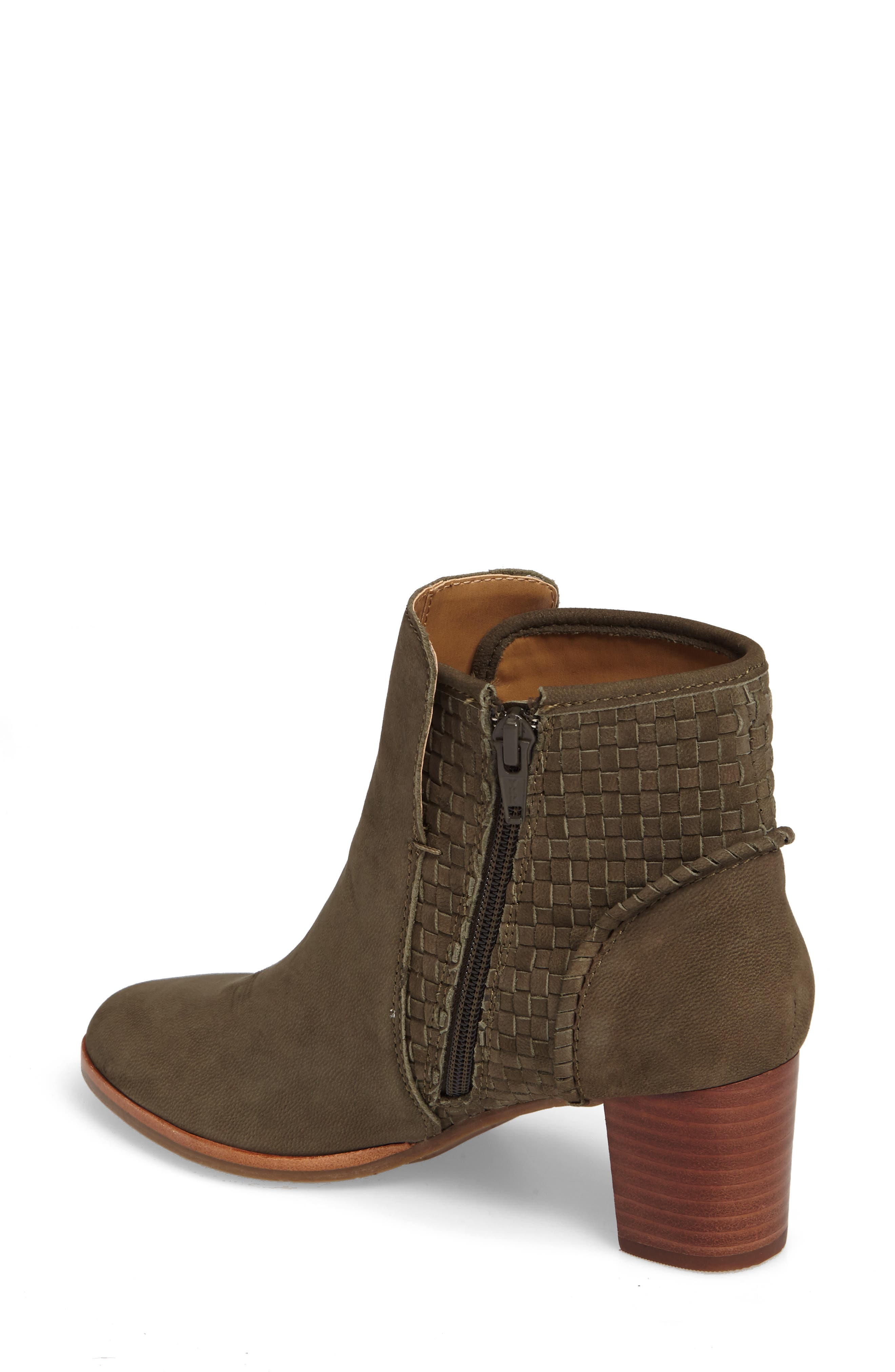 Deborah Bootie,                             Alternate thumbnail 2, color,                             Olive Leather