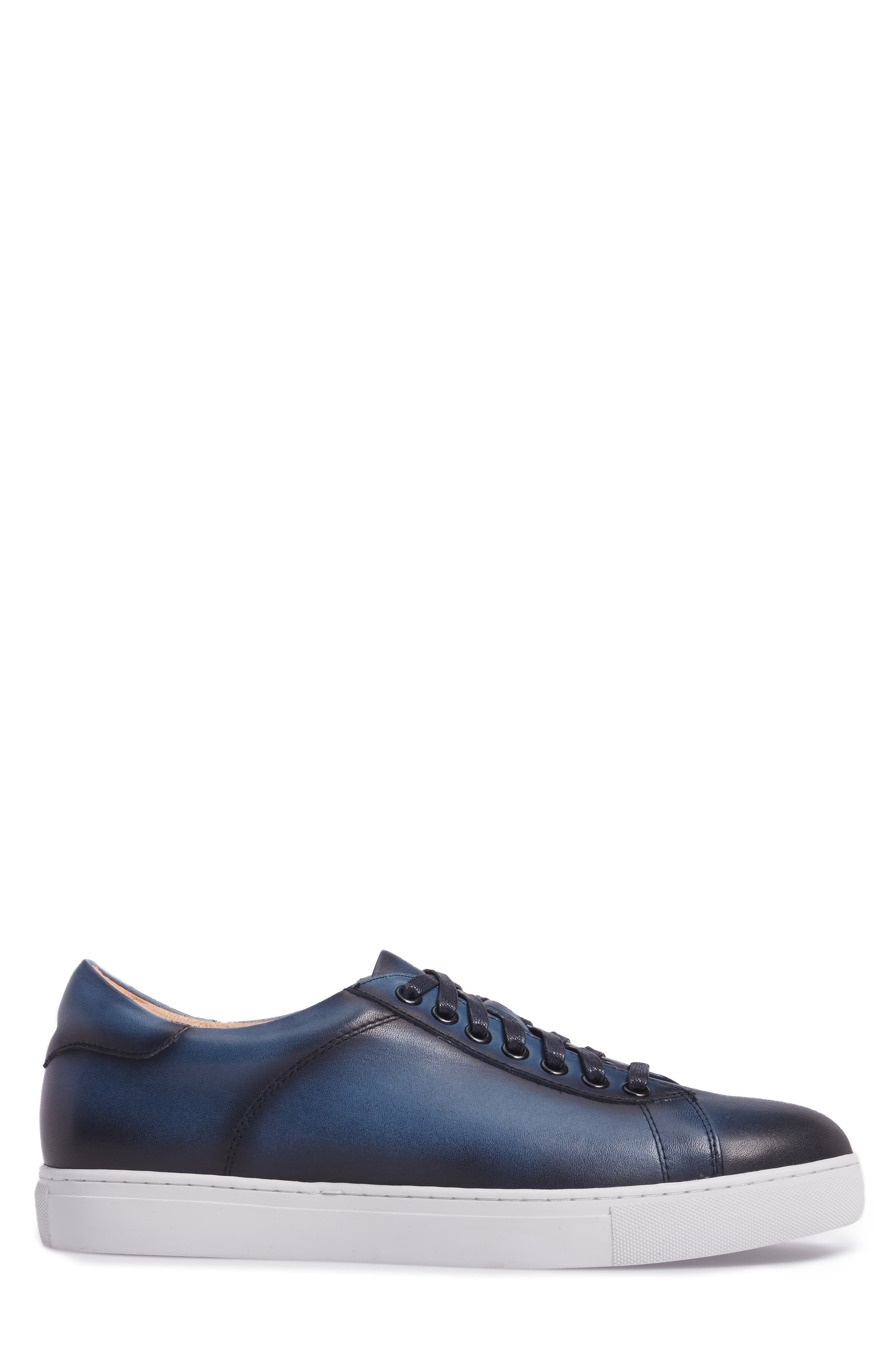 Penrose Sneaker,                             Alternate thumbnail 3, color,                             Blue Leather