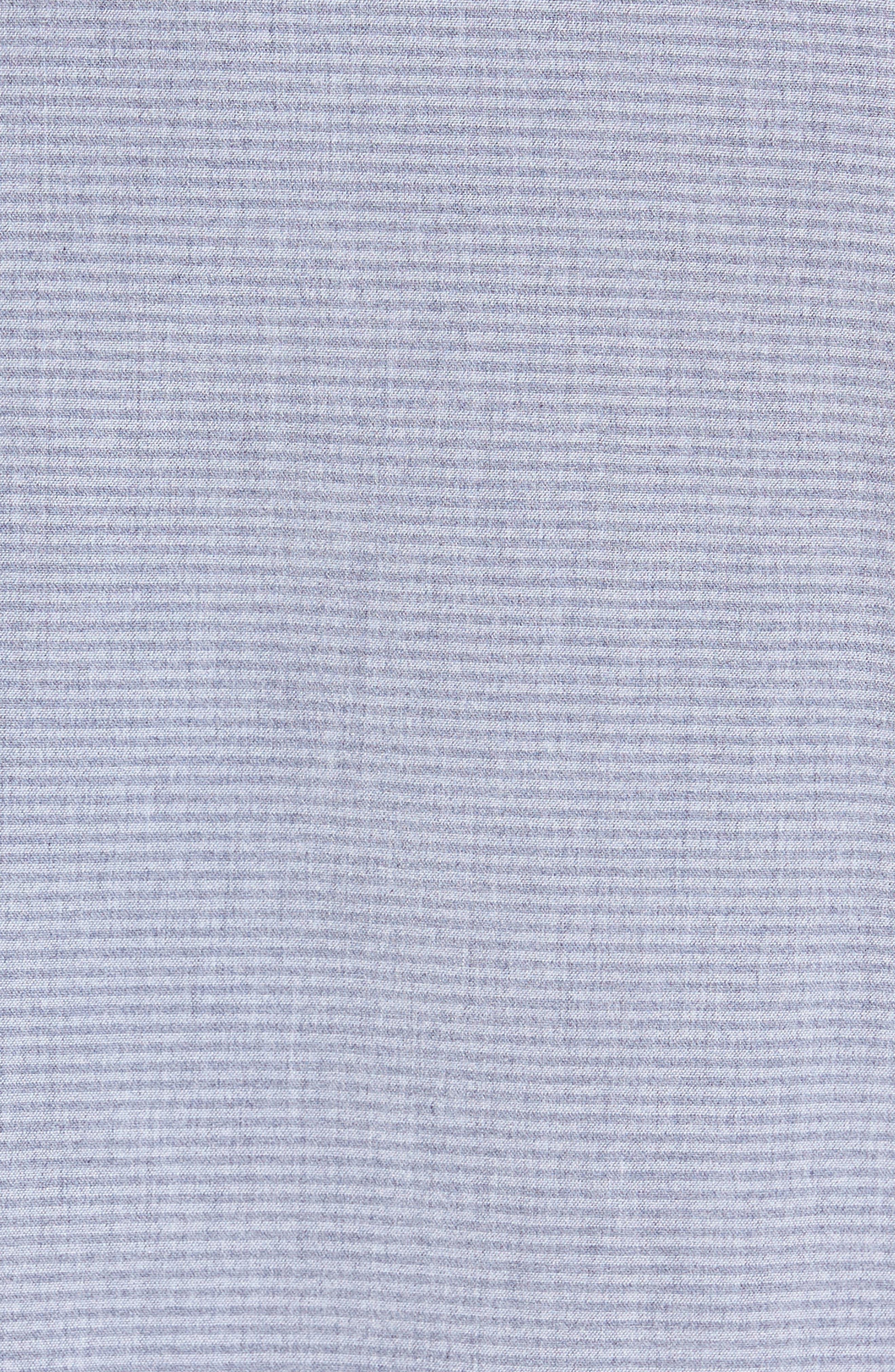 Mettro Slim Fit Horizontal Stripe Sport Shirt,                             Alternate thumbnail 5, color,                             Grey