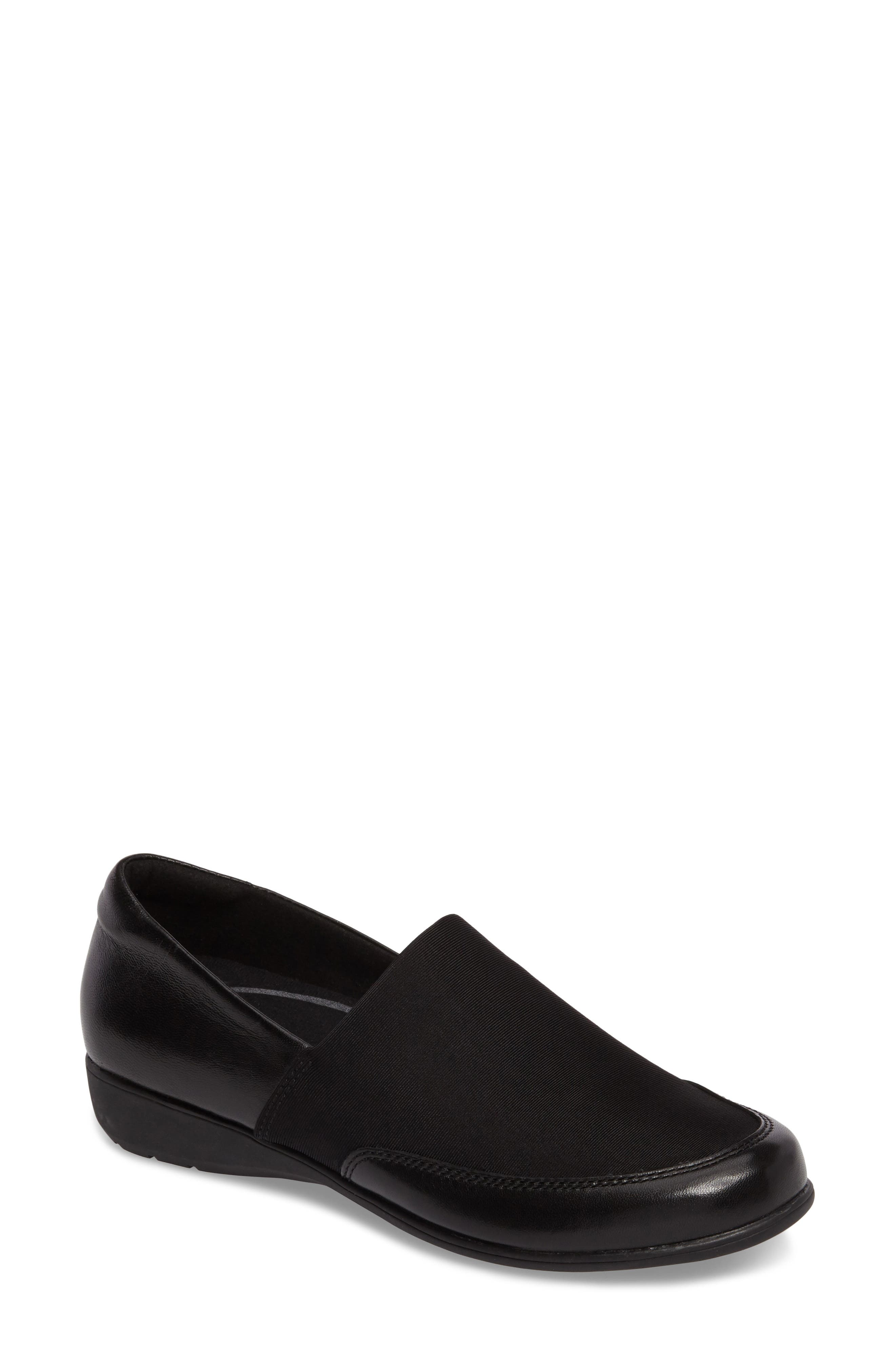Abbey Slip-On,                         Main,                         color, Black Leather