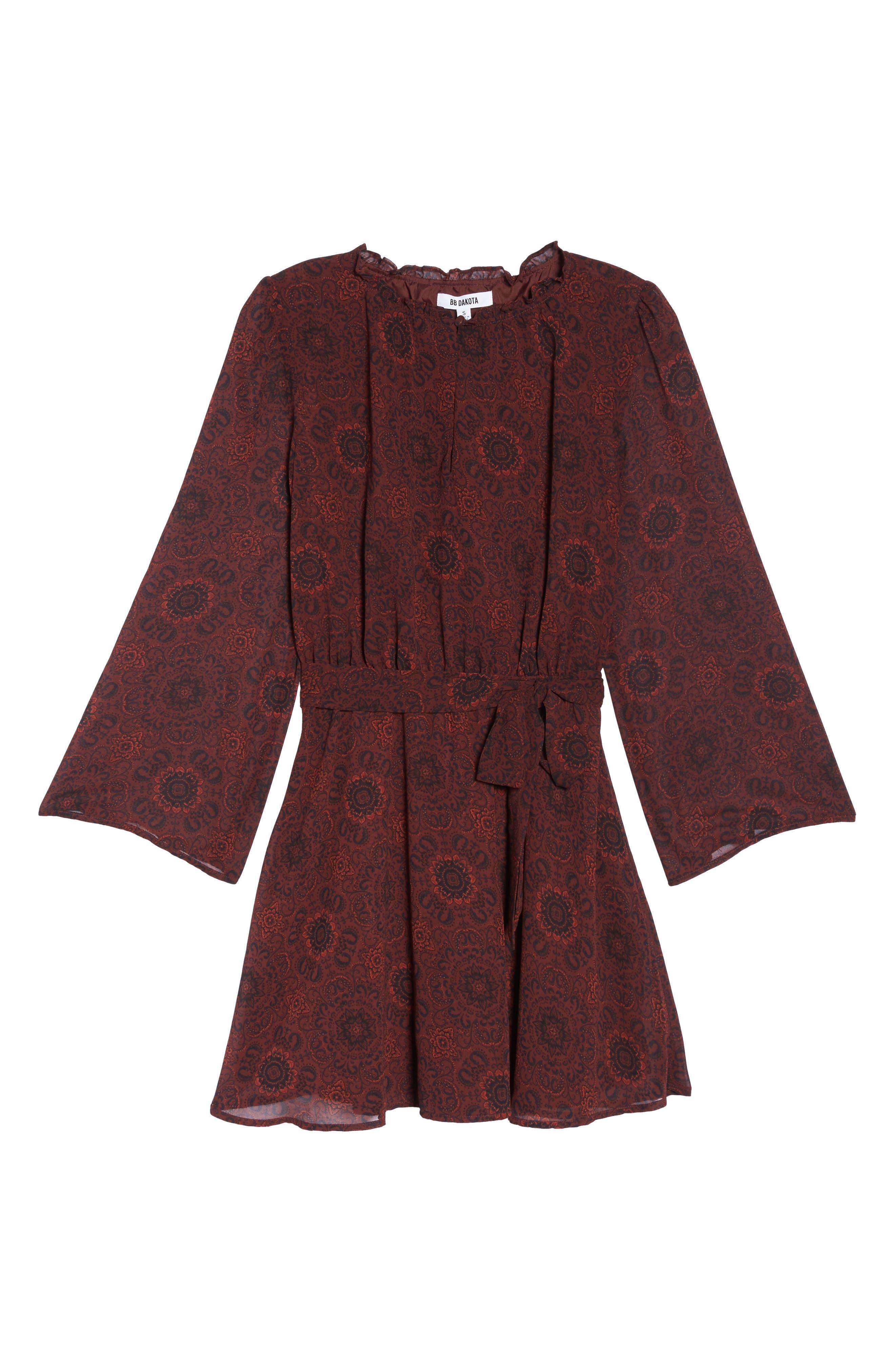 Branton Fit & Flare Dress,                             Alternate thumbnail 6, color,                             Bordeaux