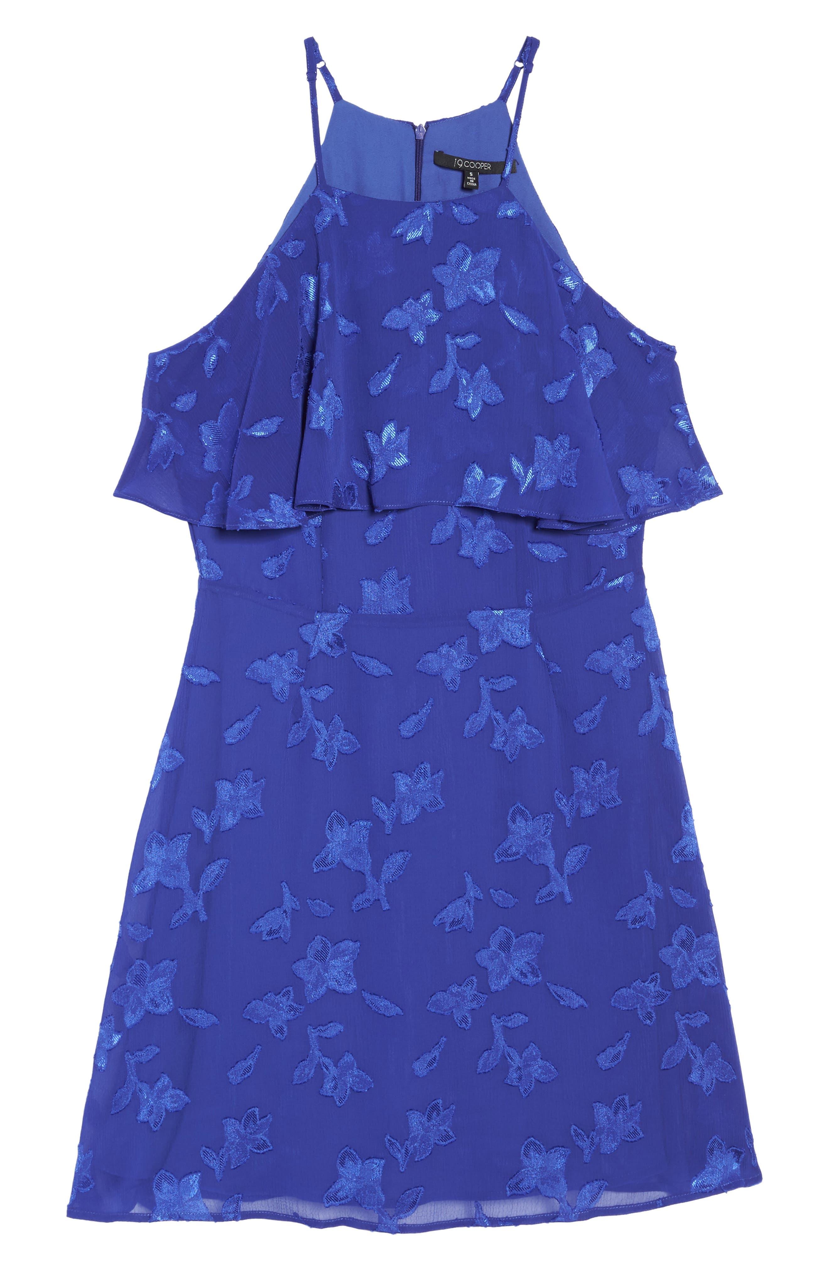 Alternate Image 6  - 19 Cooper Jacquard Flower Popover Dress