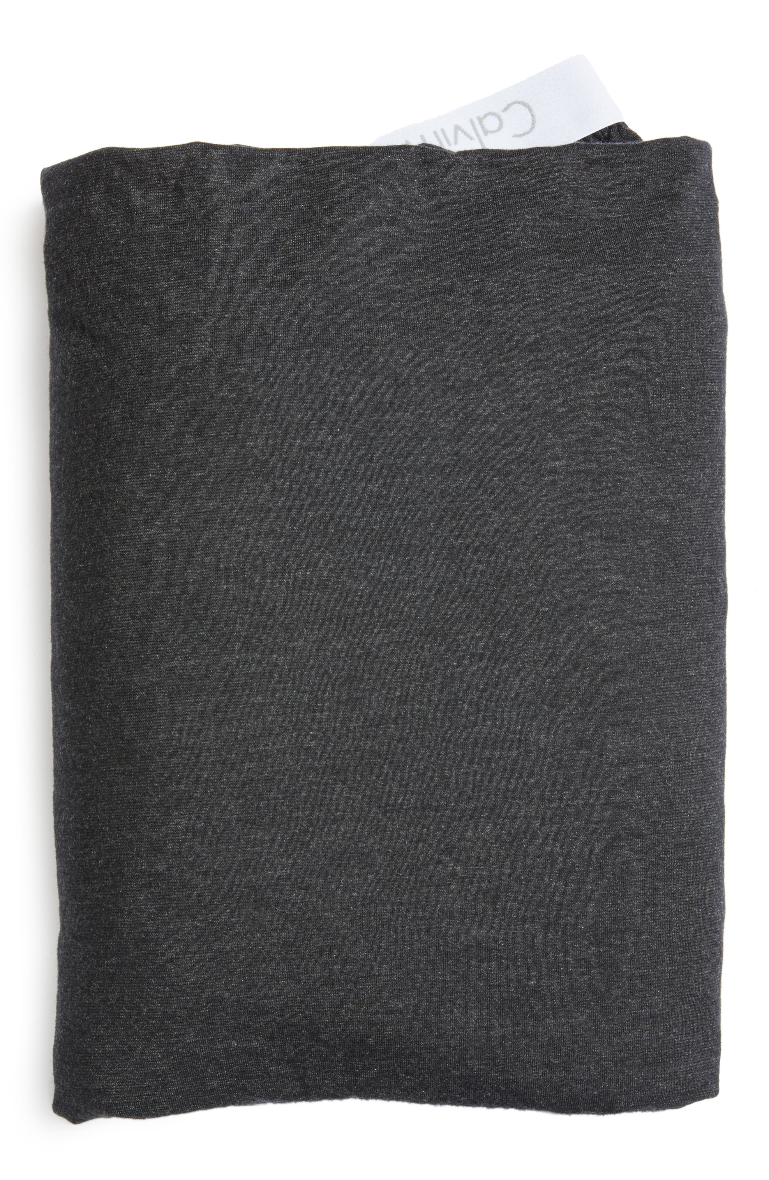 Cotton & Modal Jersey Fitted Sheet,                         Main,                         color, Muted Black