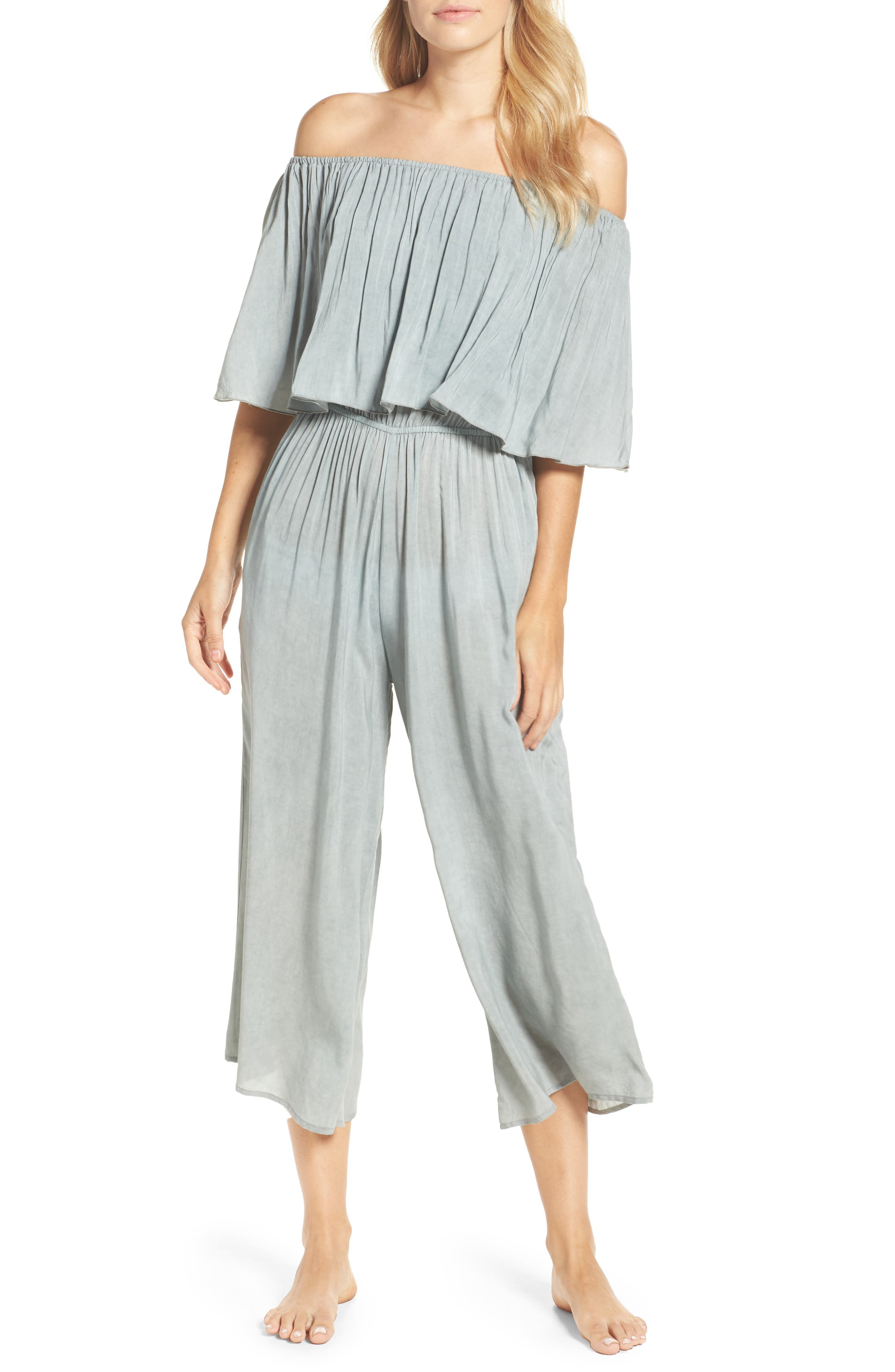 Elan Off the Shoulder Cover-Up Jumpsuit