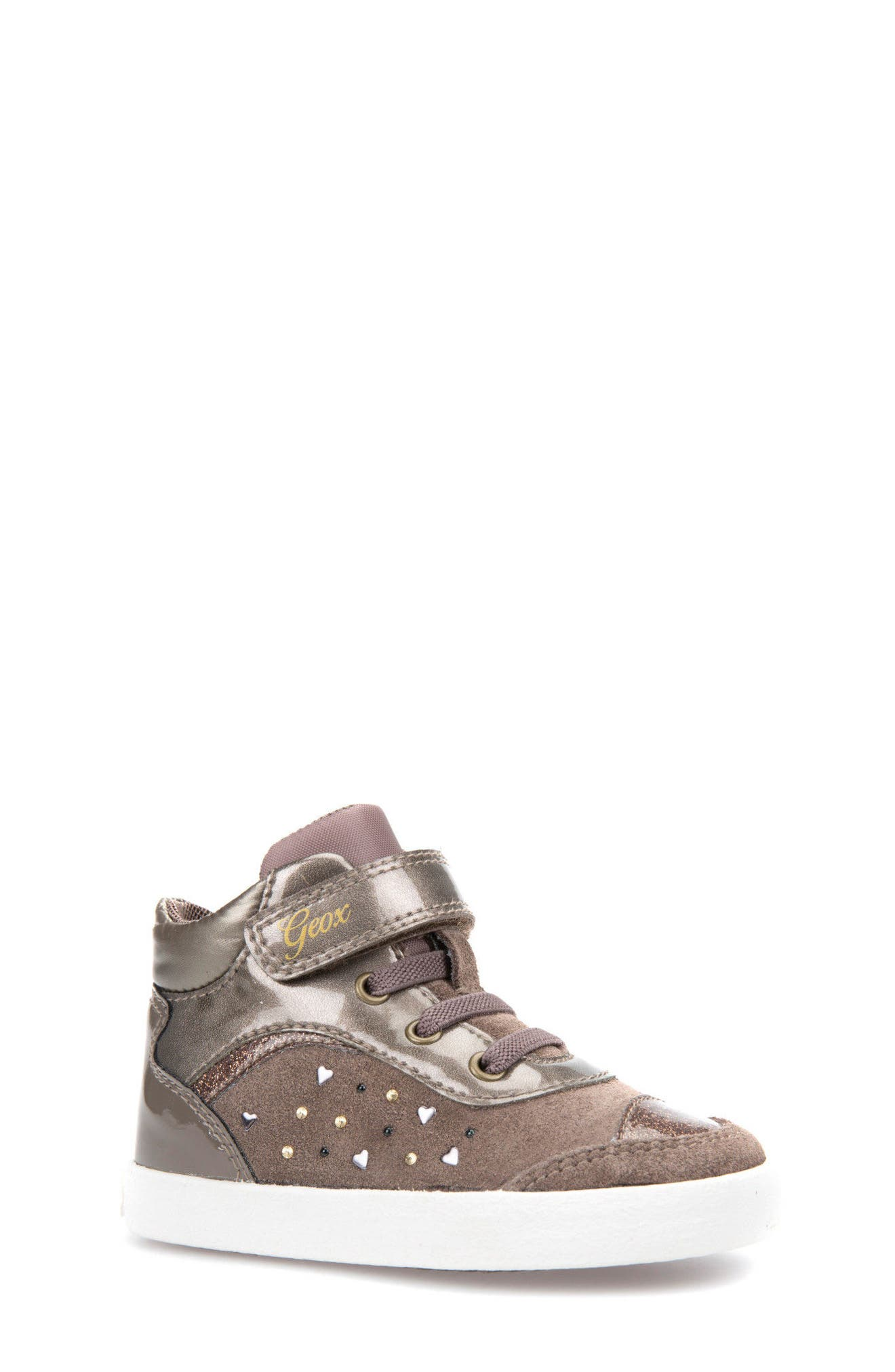 Geox Kiwi Girl Studded High Top Sneaker (Walker & Toddler)