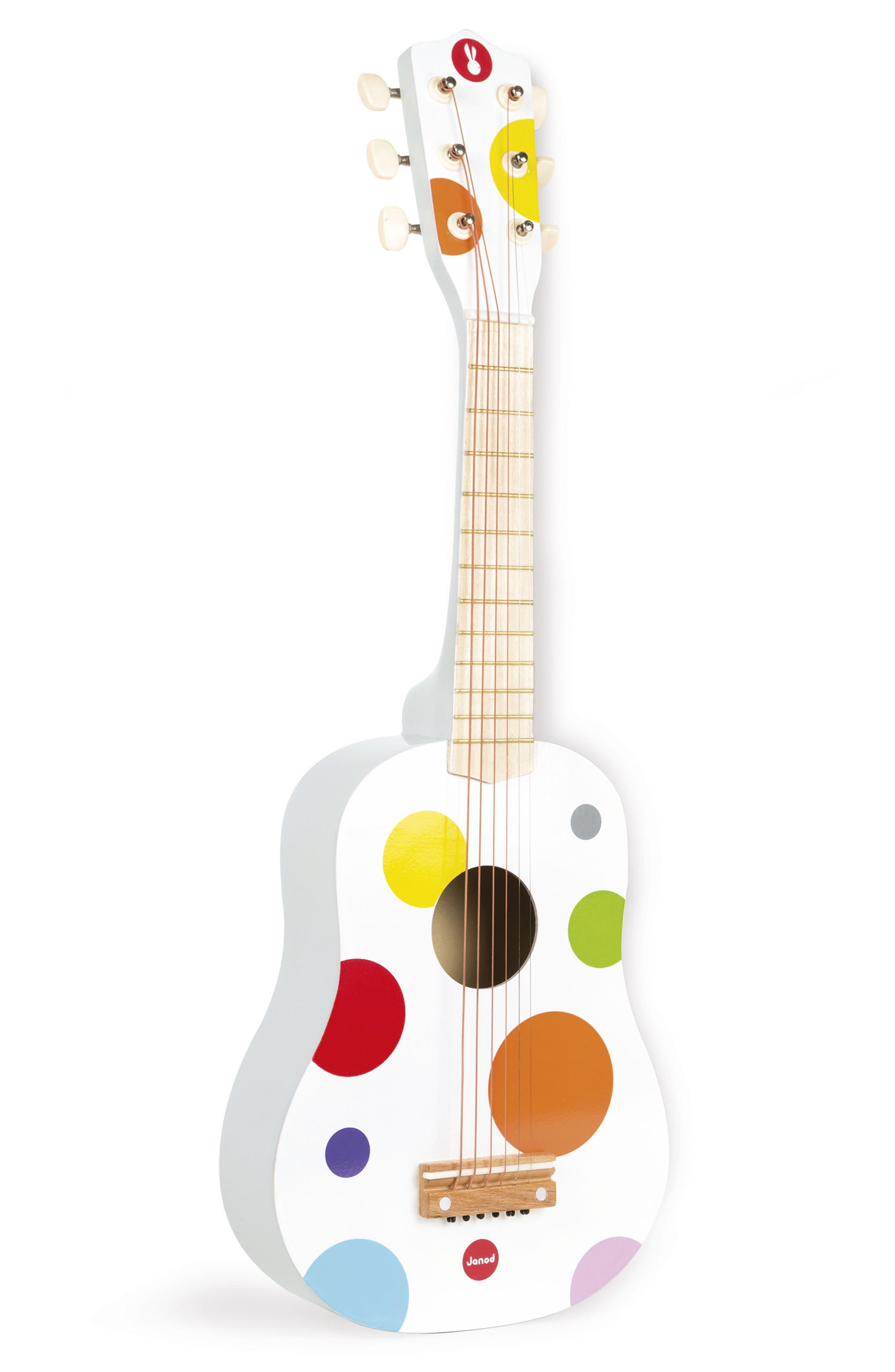 Polka Dot Wood Guitar,                         Main,                         color, Multi