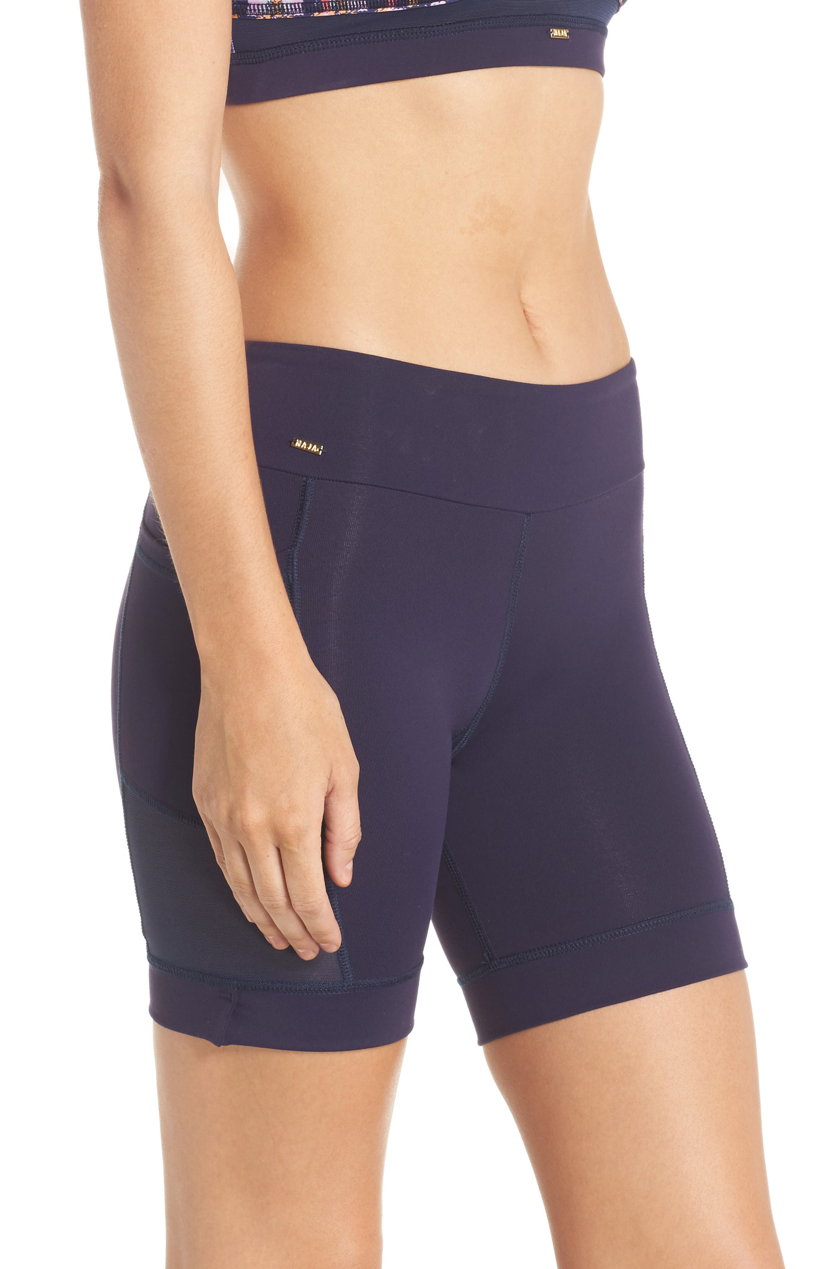 Nicole Active Shorts,                             Alternate thumbnail 3, color,                             Navy Mesh