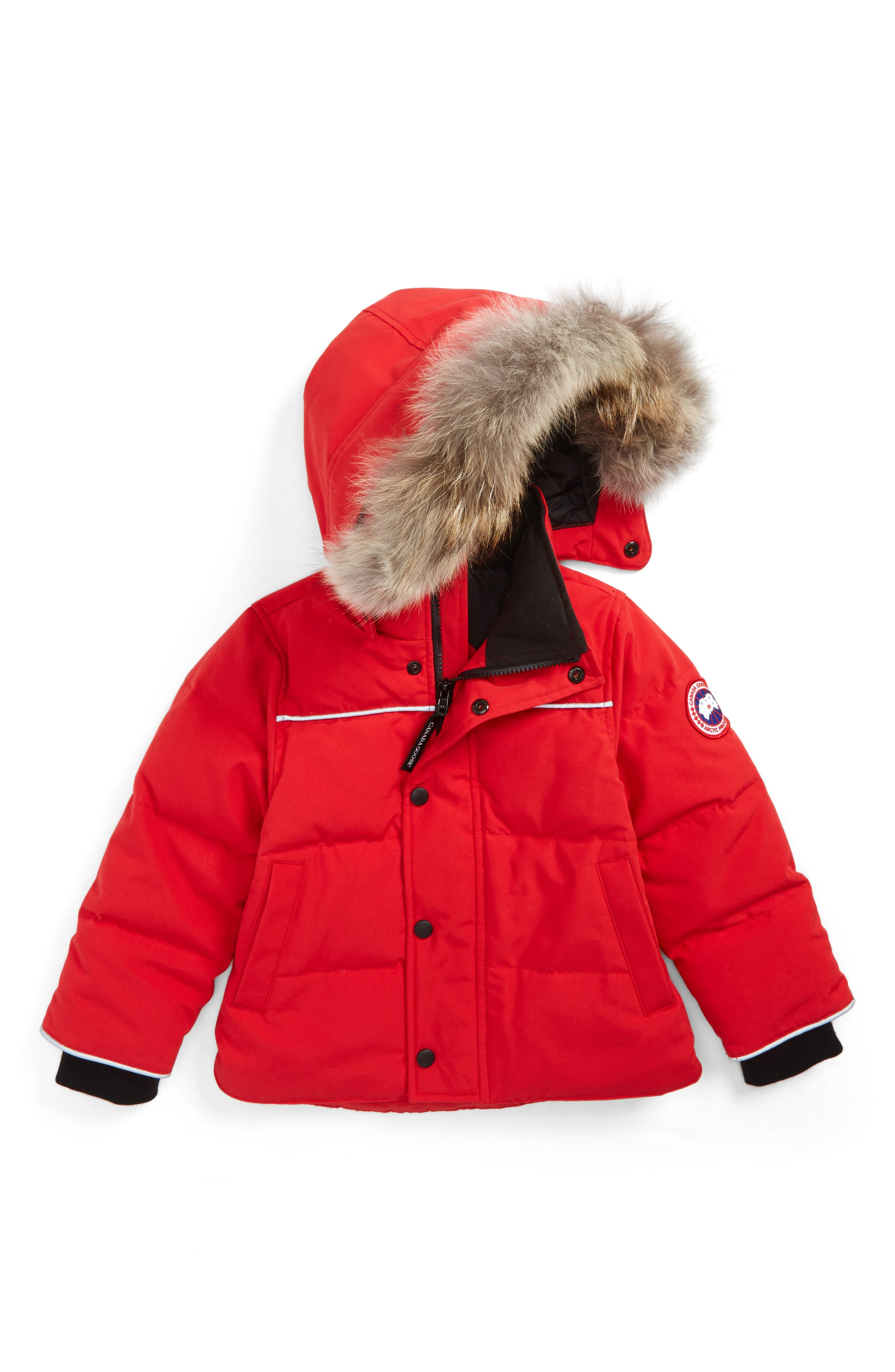 Canada Goose Snowy Owl Down Parka with Genuine Coyote Fur Trim (Toddler Kids & Little Kids)
