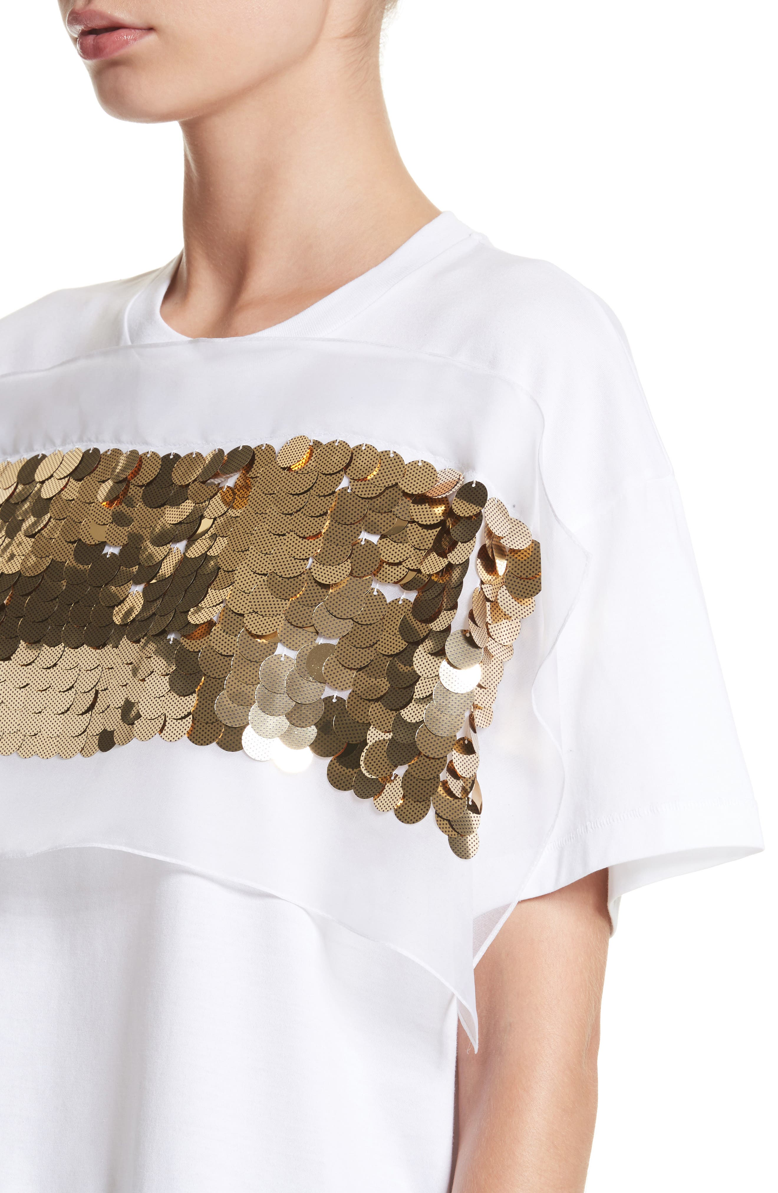 Sequin Tee,                             Alternate thumbnail 4, color,                             White