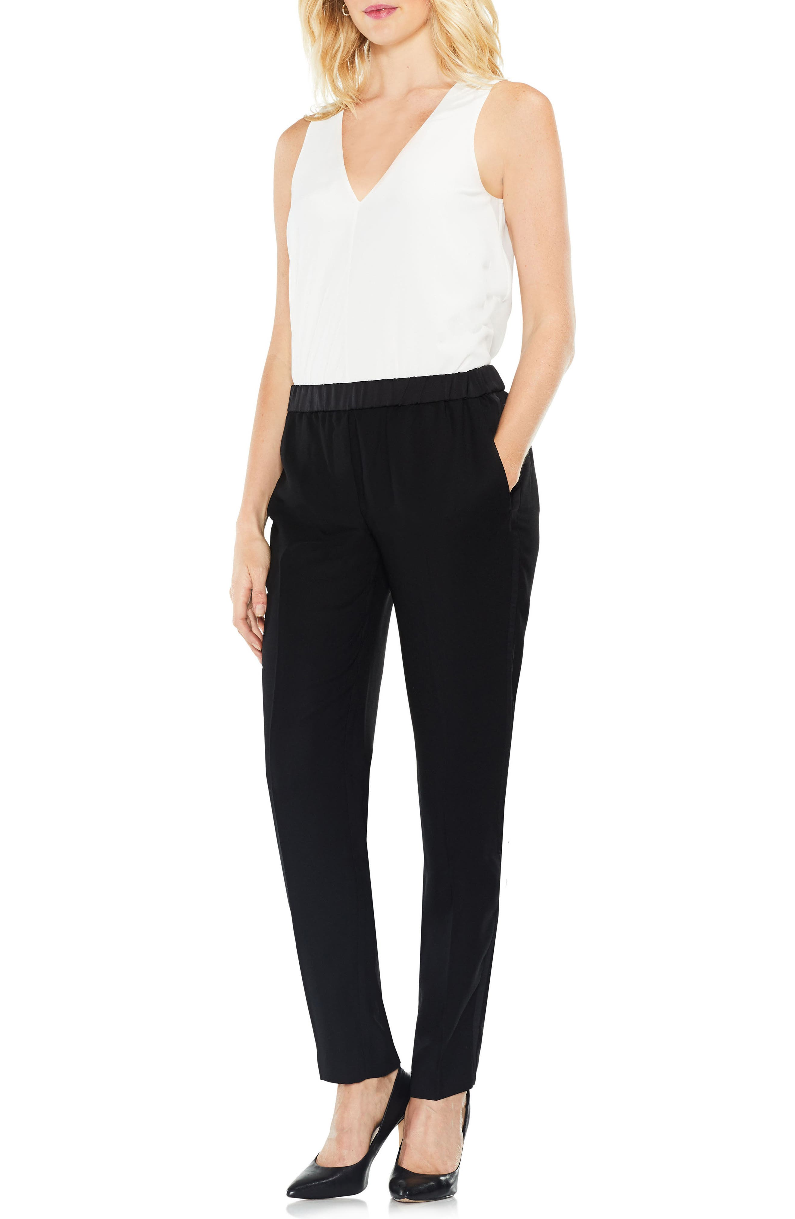 Alternate Image 2  - Vince Camuto Matte Shine Slim Leg Crepe Pants