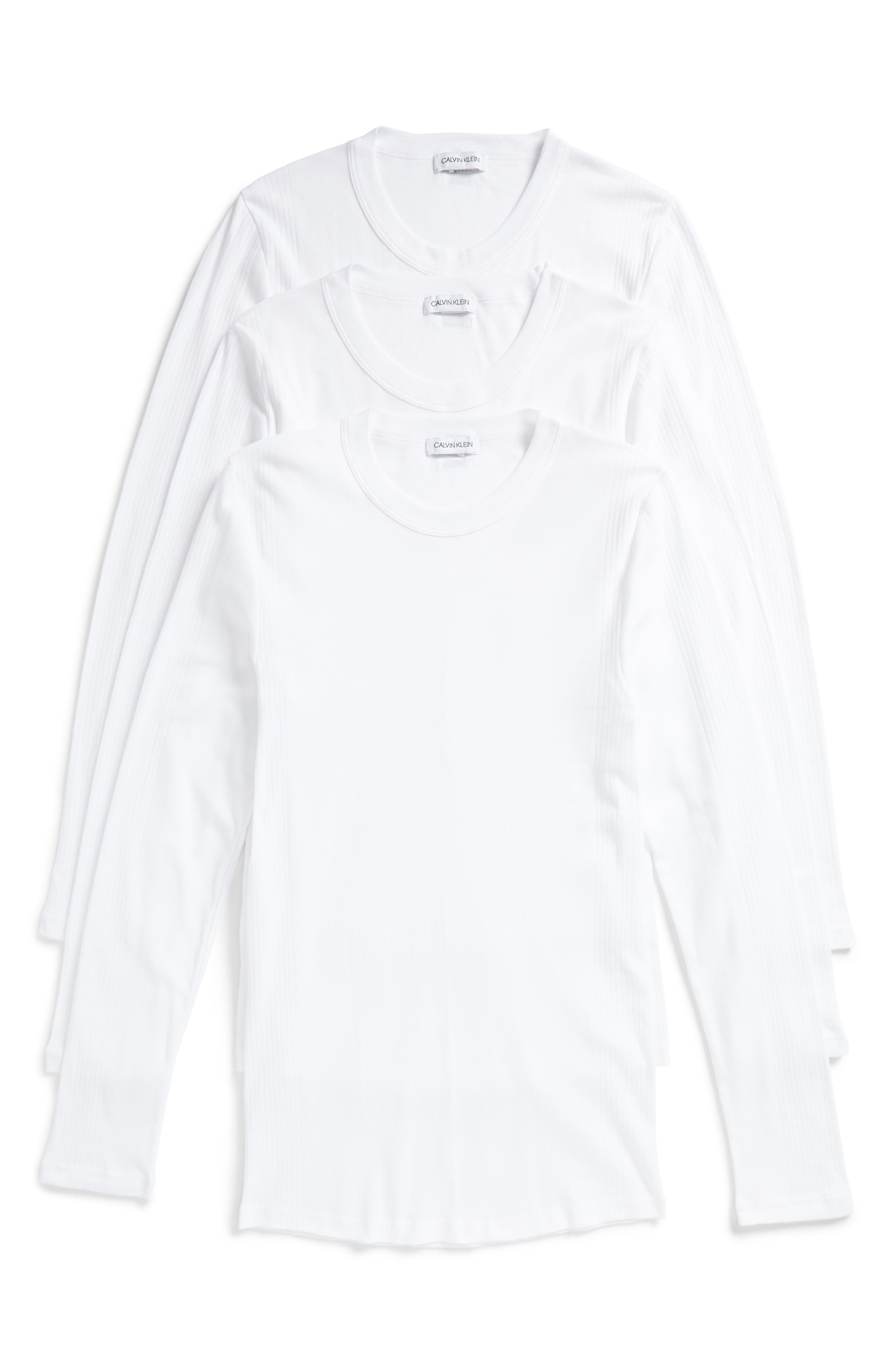Calvin Klein 205W39NYC Concept Luxury 3-Pack Long Sleeve T-Shirt