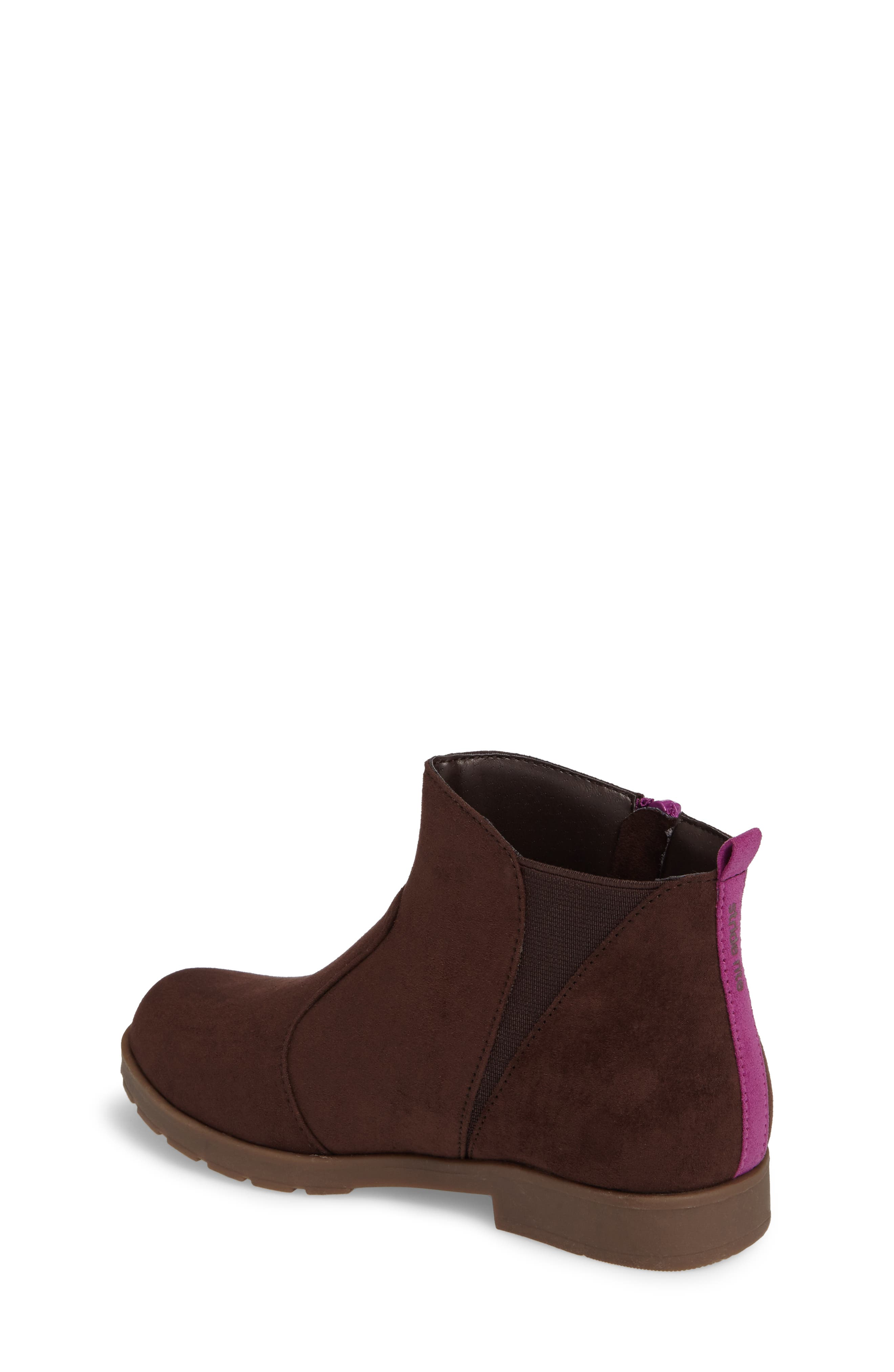 Lucy Zip Bootie,                             Alternate thumbnail 2, color,                             Chocolate