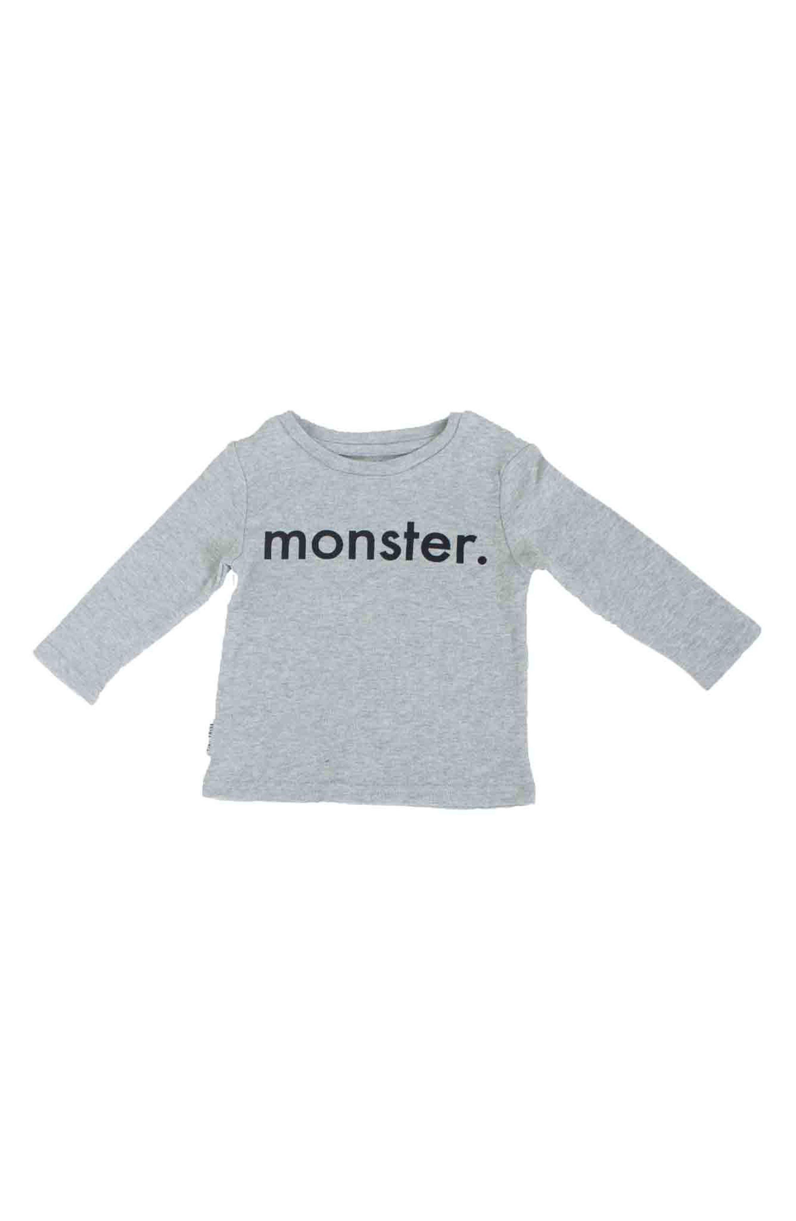 Alternate Image 2  - Tiny Tribe Monster T-Shirt & Leggings Set (Baby & Toddler)