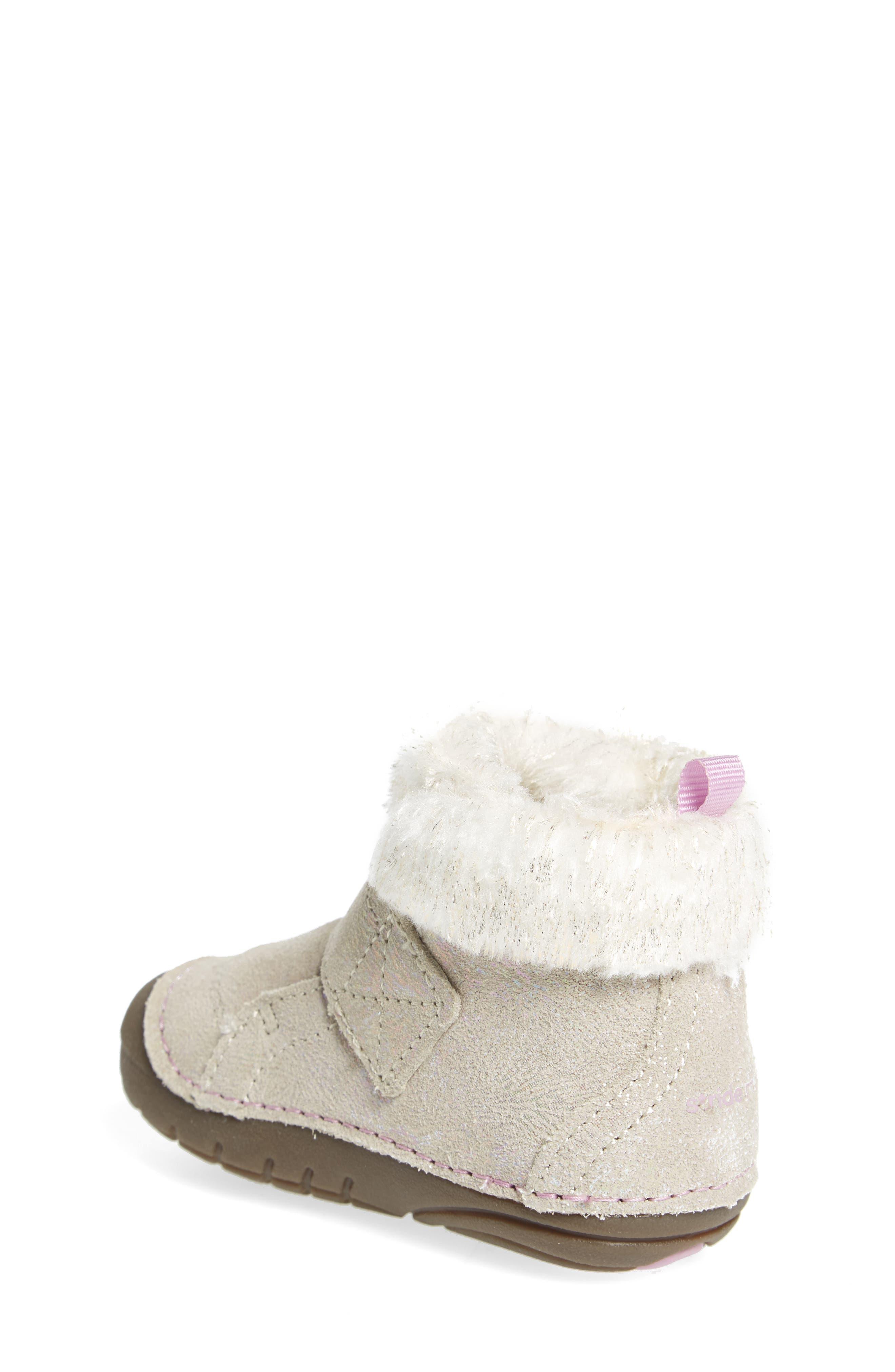 Alternate Image 2  - Stride Rite Soft Motion™ Sophie Faux Fur Bootie (Baby & Walker)