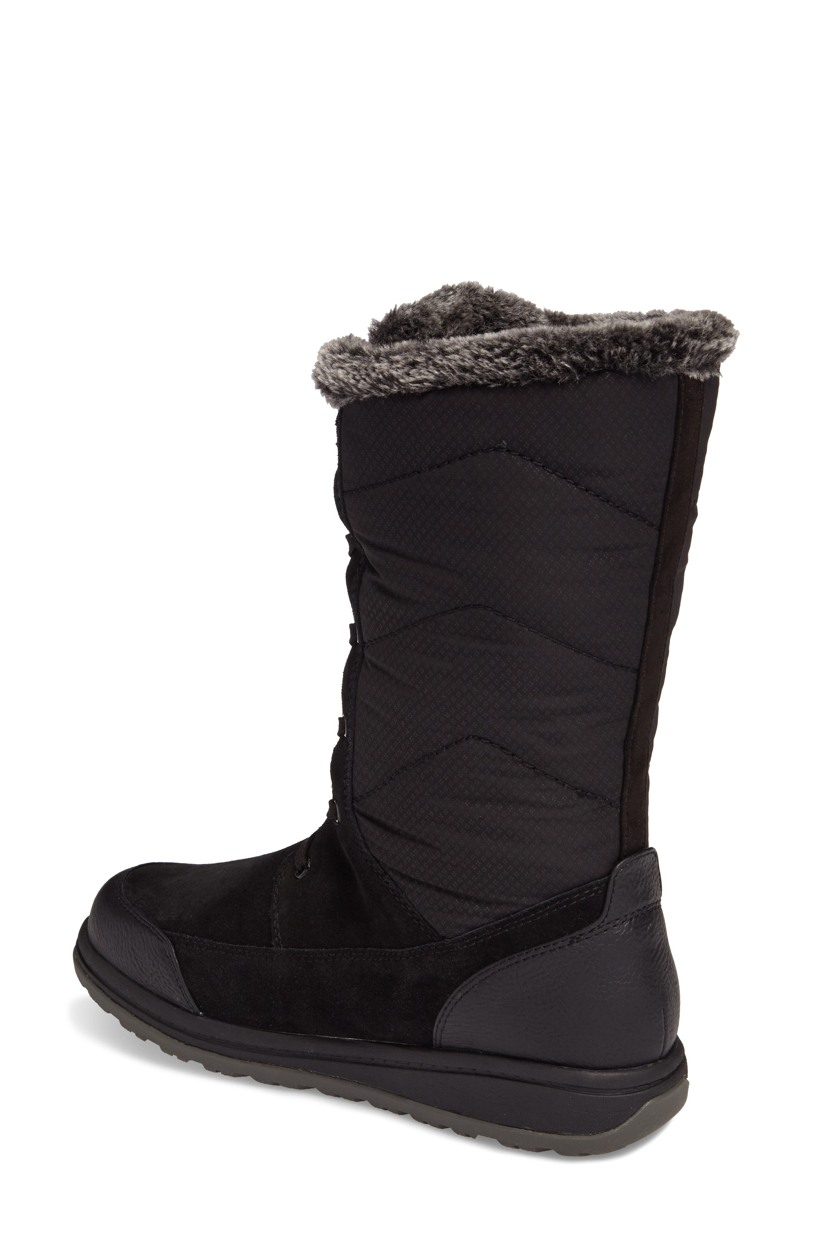 QuincyS Waterproof Boot,                             Alternate thumbnail 2, color,                             Black Fabric