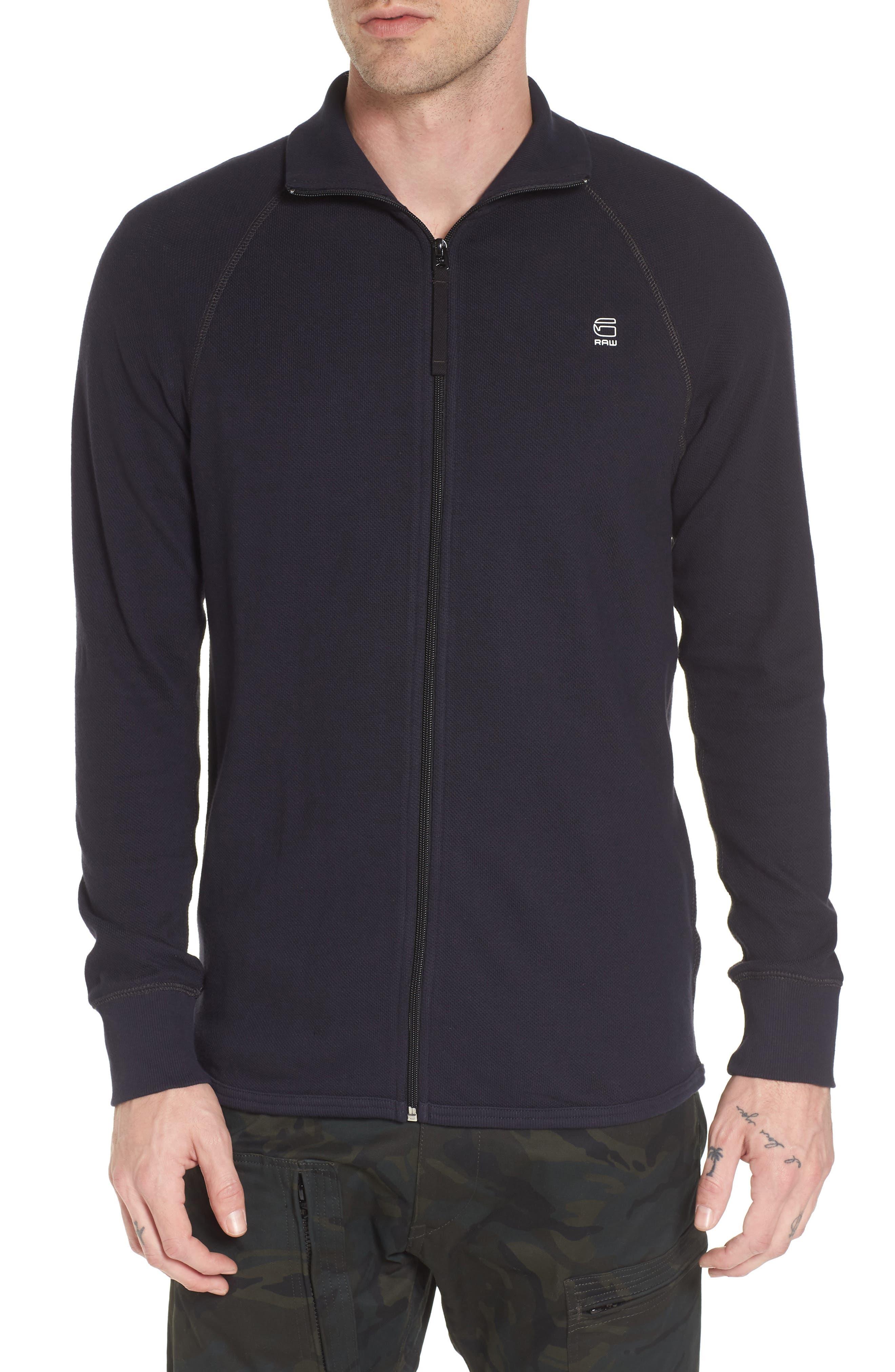 Jirgi Front Zip Sweater,                             Main thumbnail 1, color,                             Dark Naval Blue