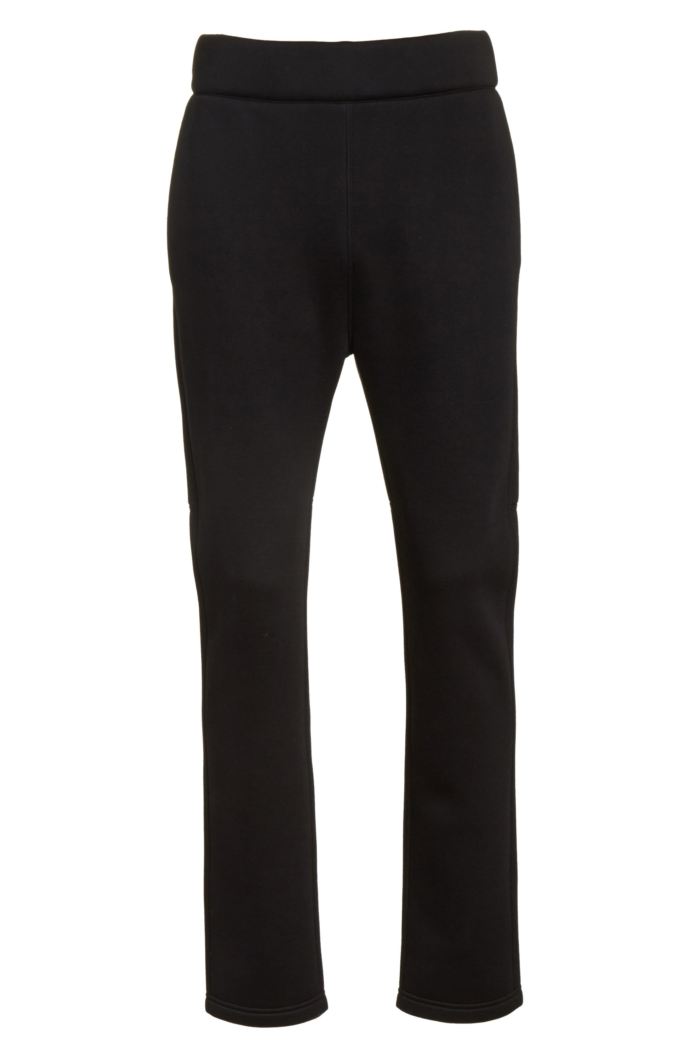 Straight Leg Jogger Pants,                             Alternate thumbnail 6, color,                             Black