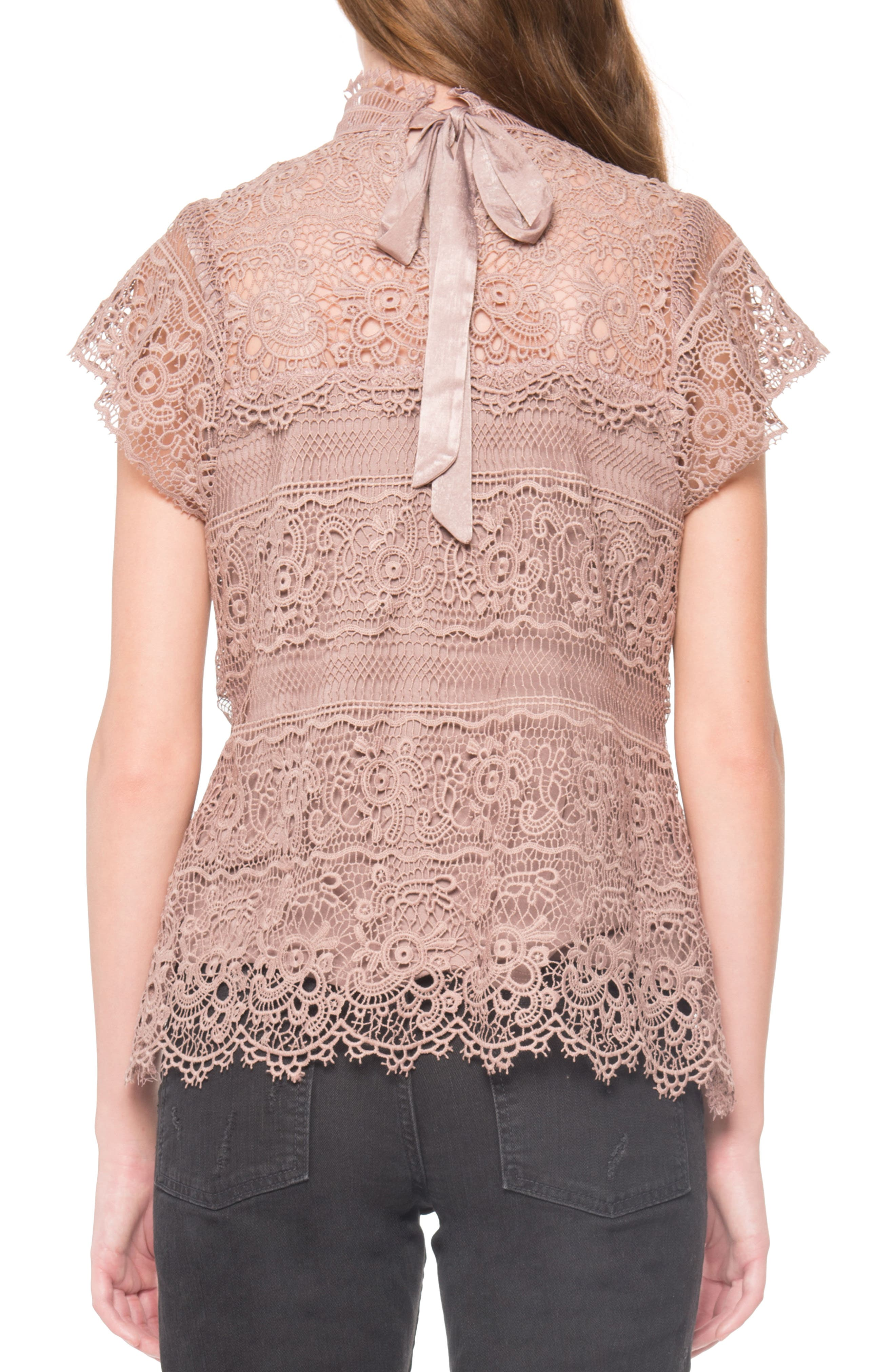 Alternate Image 2  - Willow & Clay Lace Mock Neck Top
