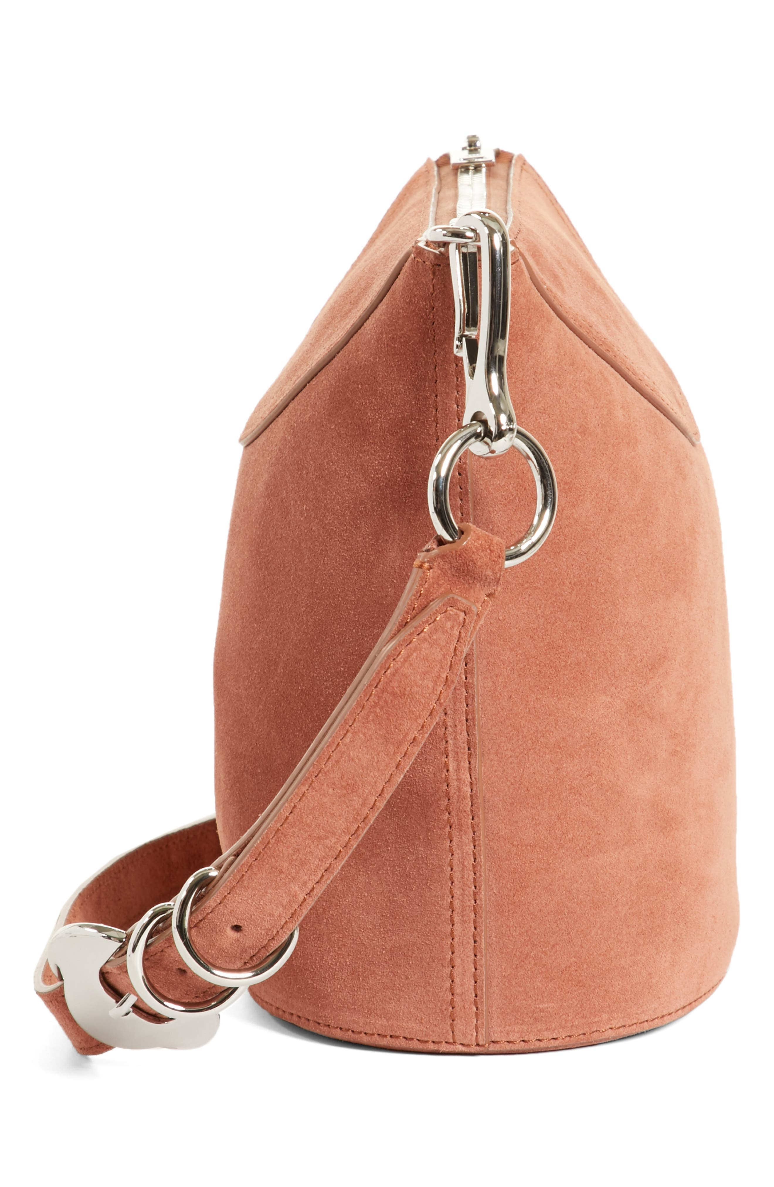 Ace Suede Bucket Bag,                             Alternate thumbnail 5, color,                             Terracotta