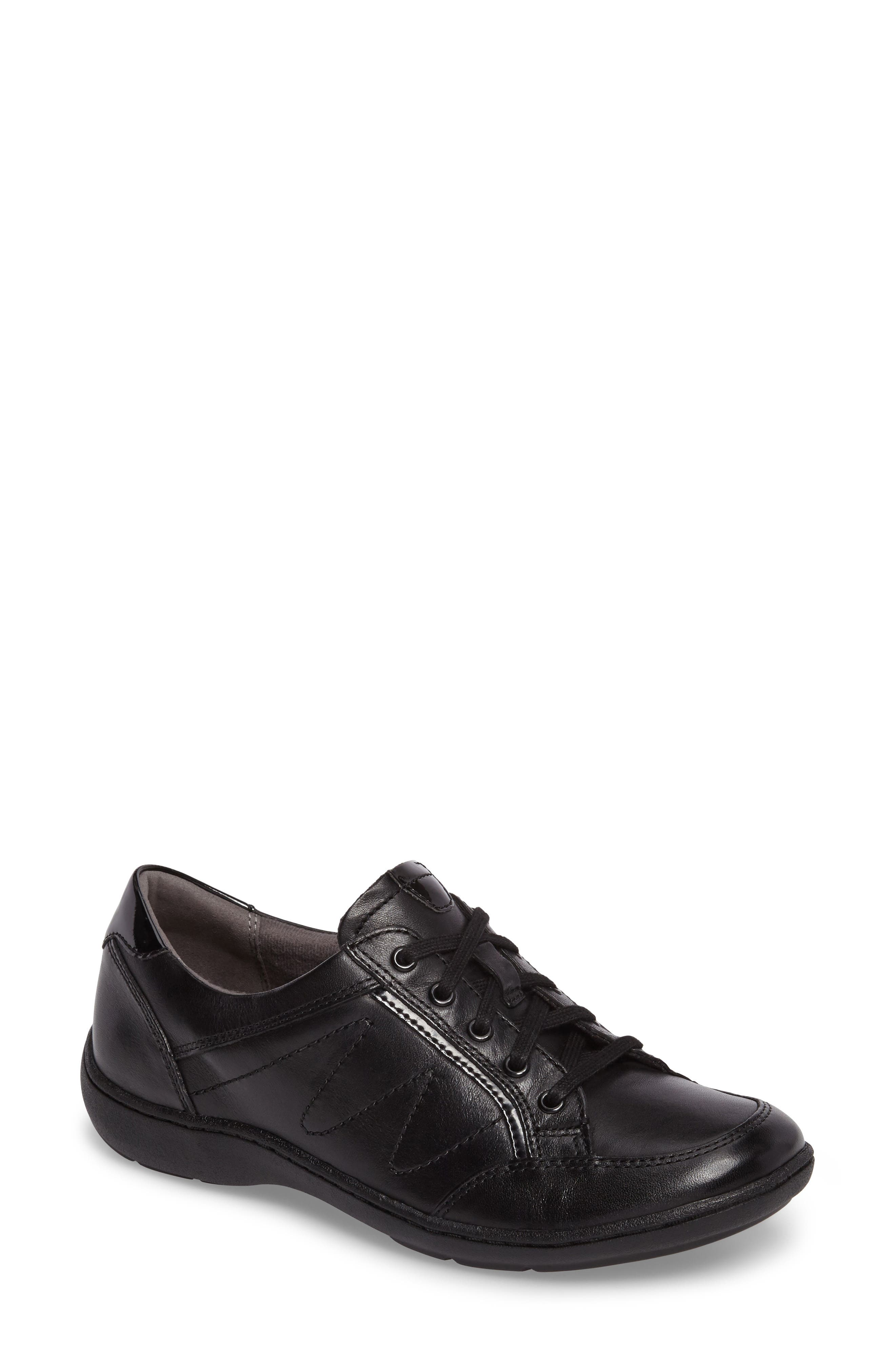 Bromly Sneaker,                         Main,                         color, Black Leather
