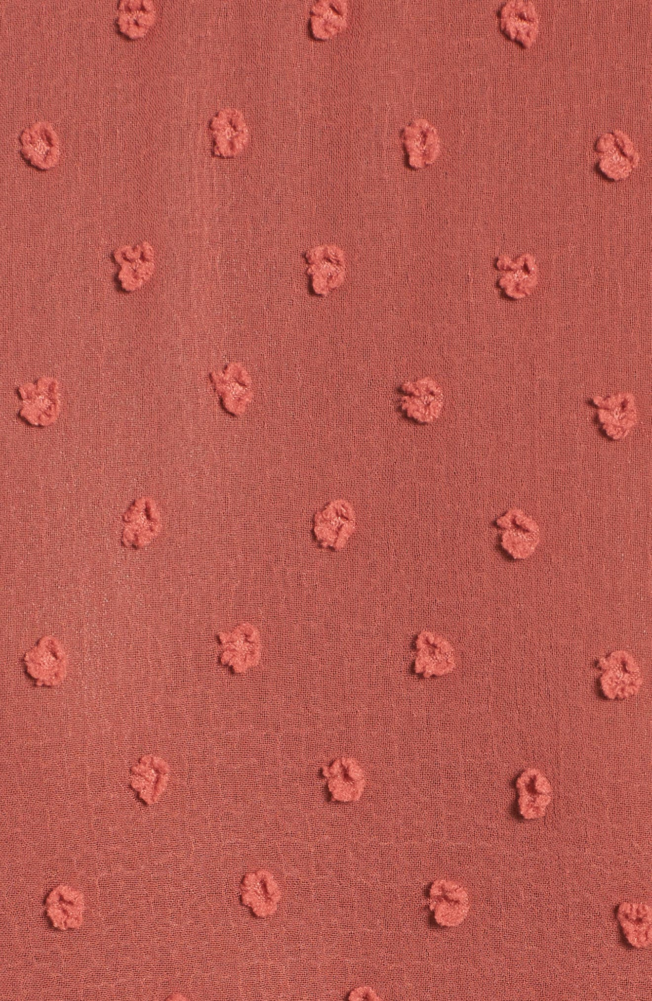 Freya Bell Sleeve Wrap Maxi Dress,                             Alternate thumbnail 6, color,                             Cinnamon