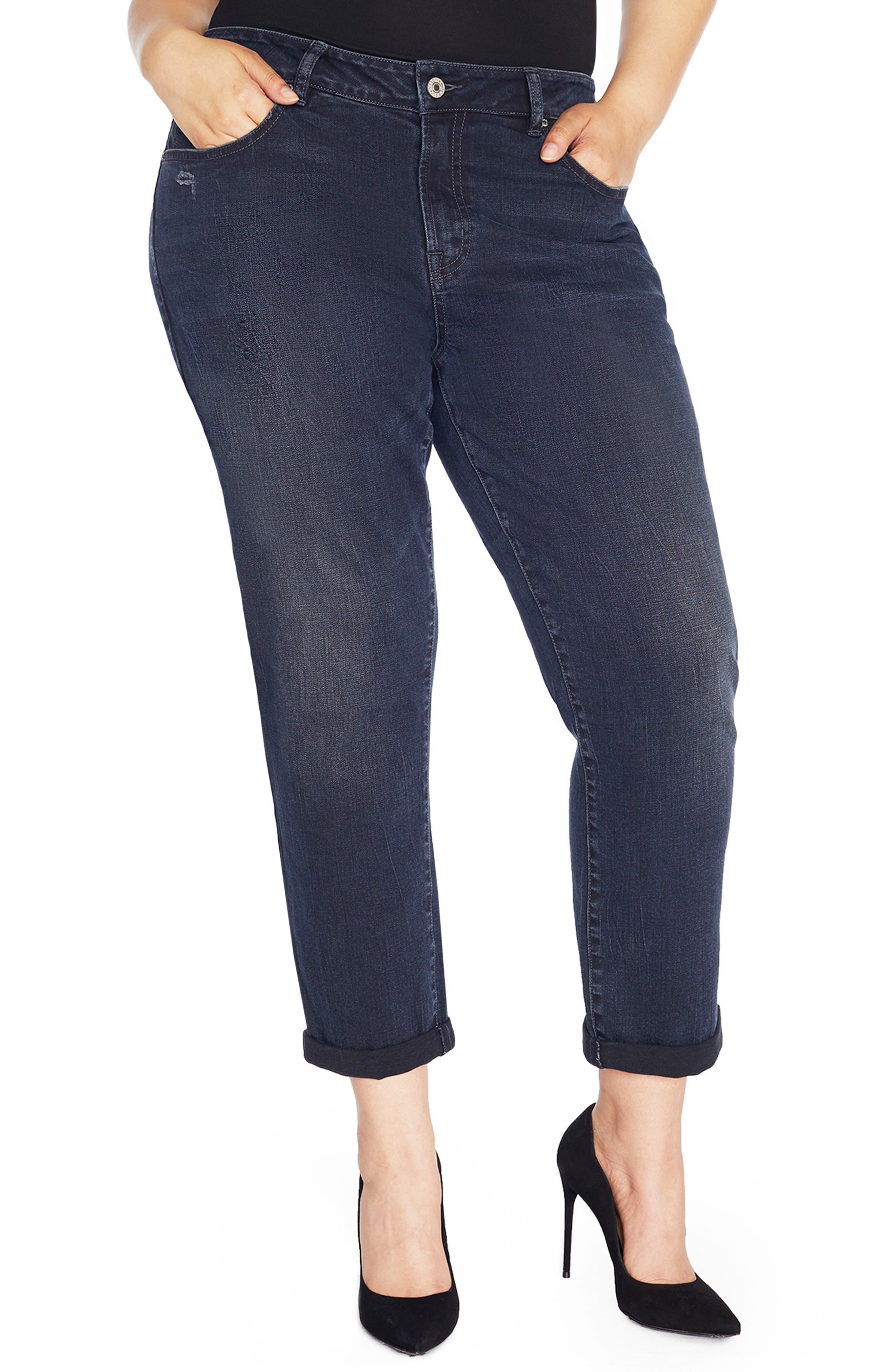 REBEL WILSON X ANGELS The Ryot Slim Boyfriend Jeans (Plus Size)