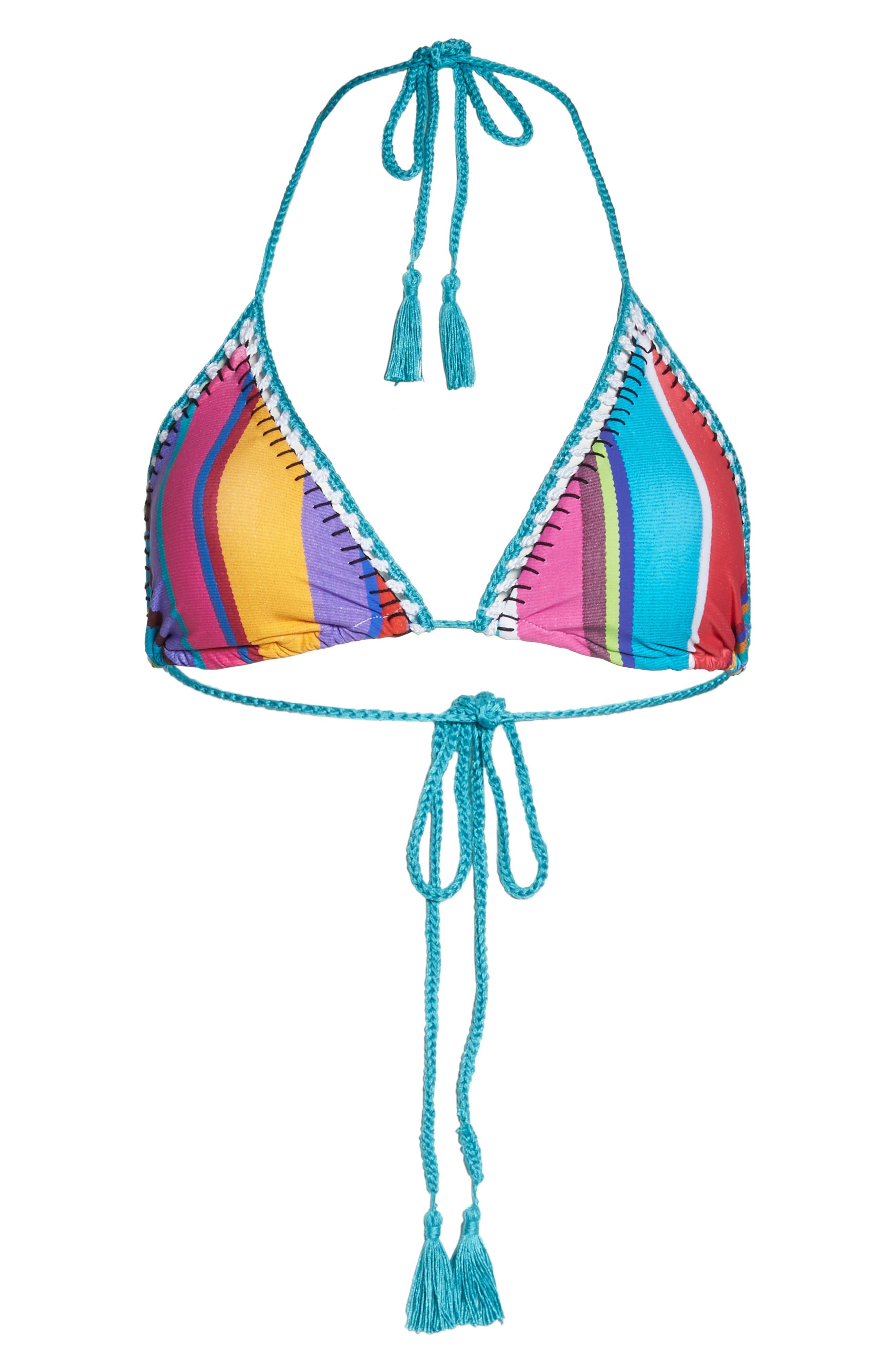 Sayulita Vixen Triangle Bikini Top,                             Alternate thumbnail 6, color,                             Multi