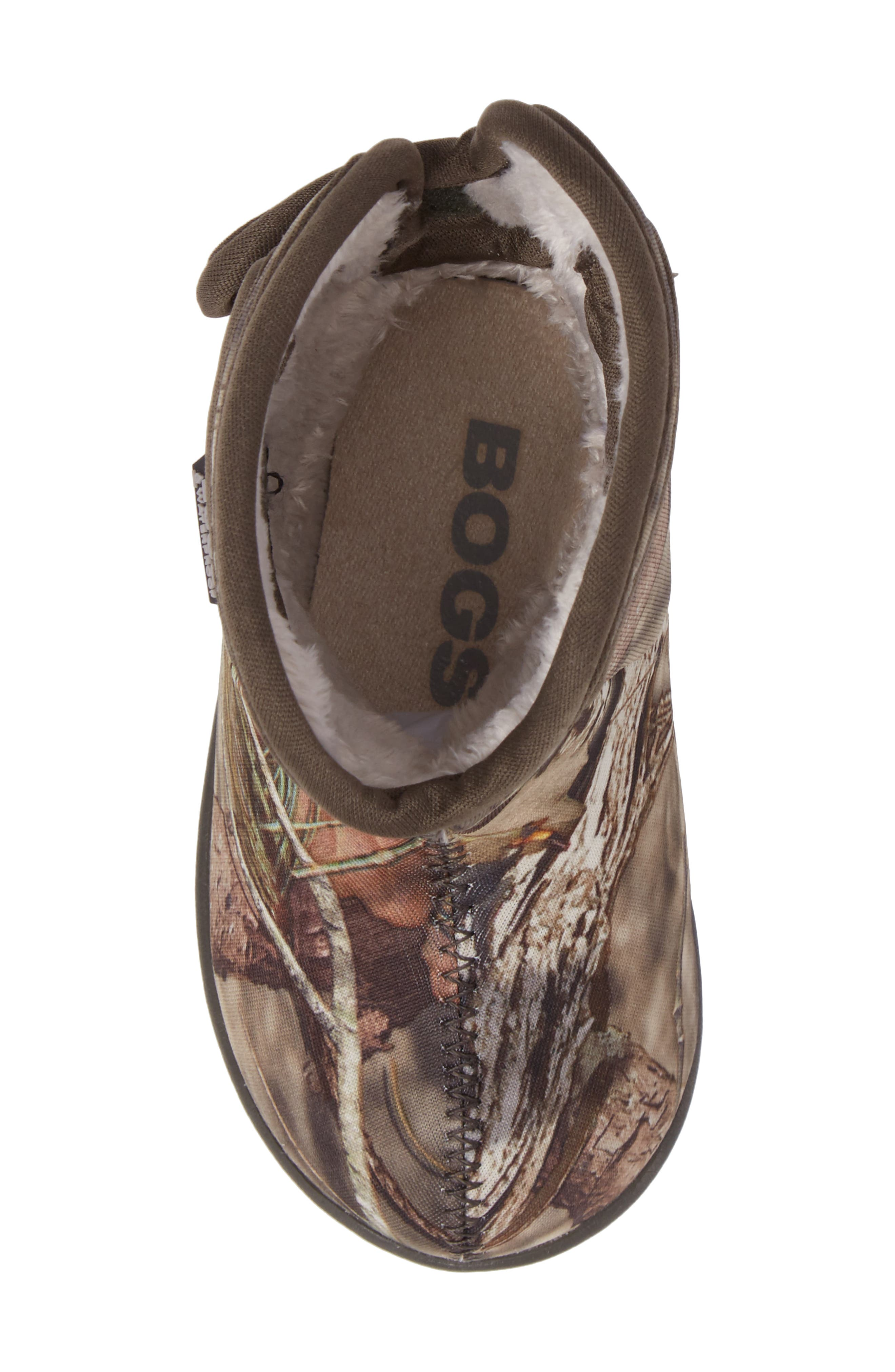Baby Bogs Classic Camo Insulated Waterproof Boot,                             Alternate thumbnail 5, color,                             Mossy Oak Country