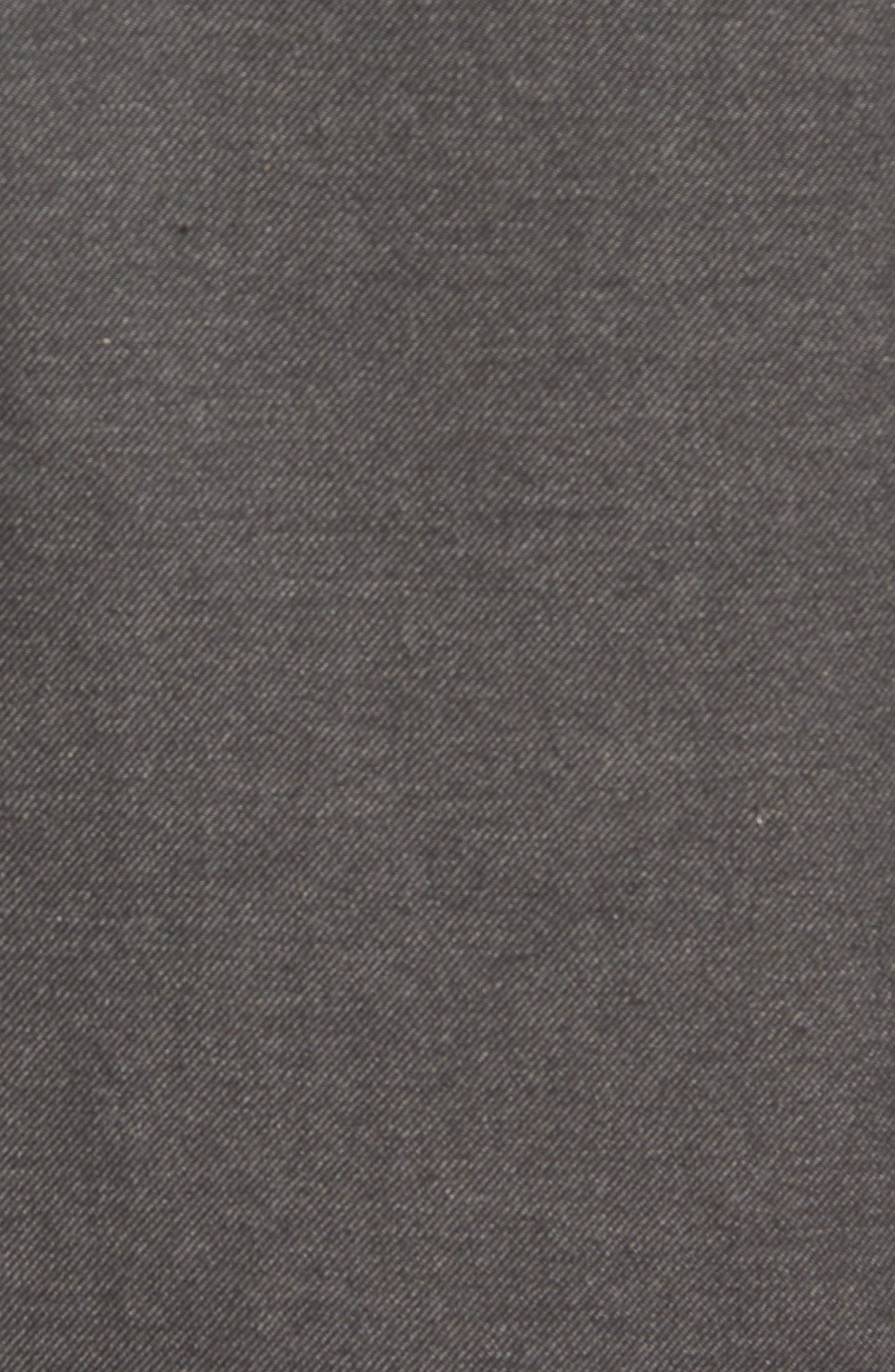 Regular Fit Flannel Sport Shirt,                             Alternate thumbnail 5, color,                             Charcoal Mel