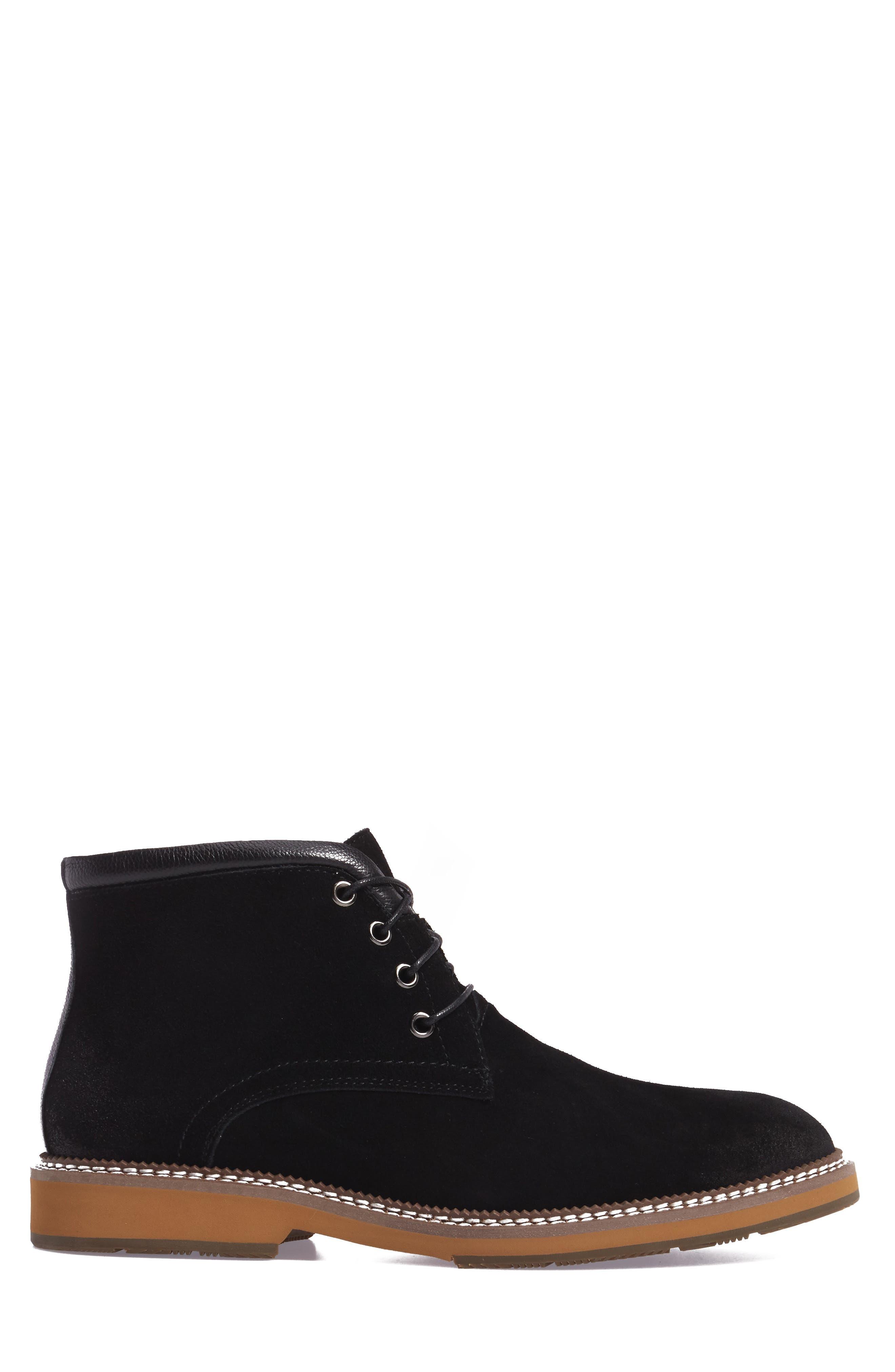 Lazo Chukka Boot,                             Alternate thumbnail 3, color,                             Black Leather