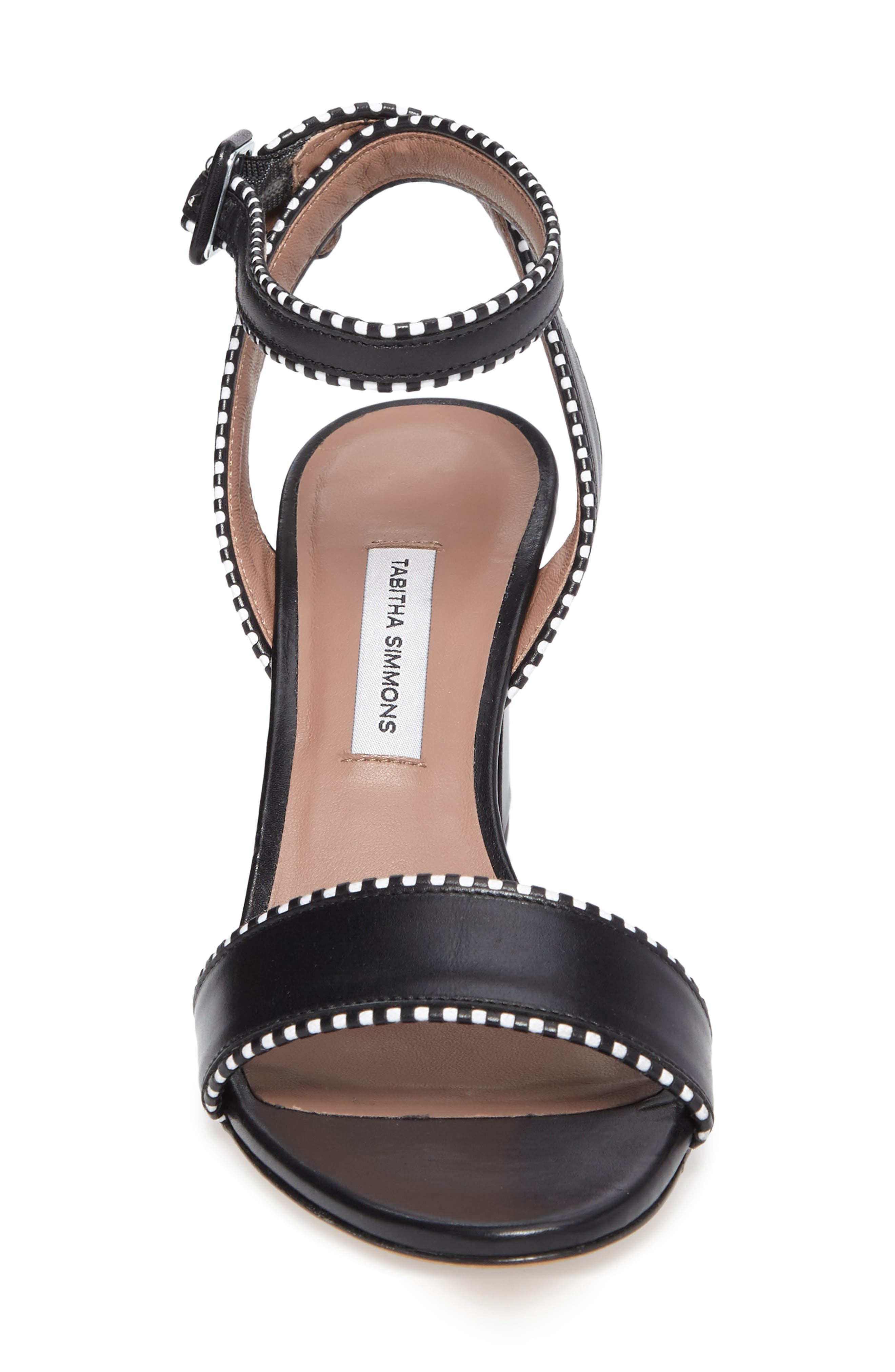 Leticia Profilo Ankle Strap Sandal,                             Alternate thumbnail 4, color,                             Black