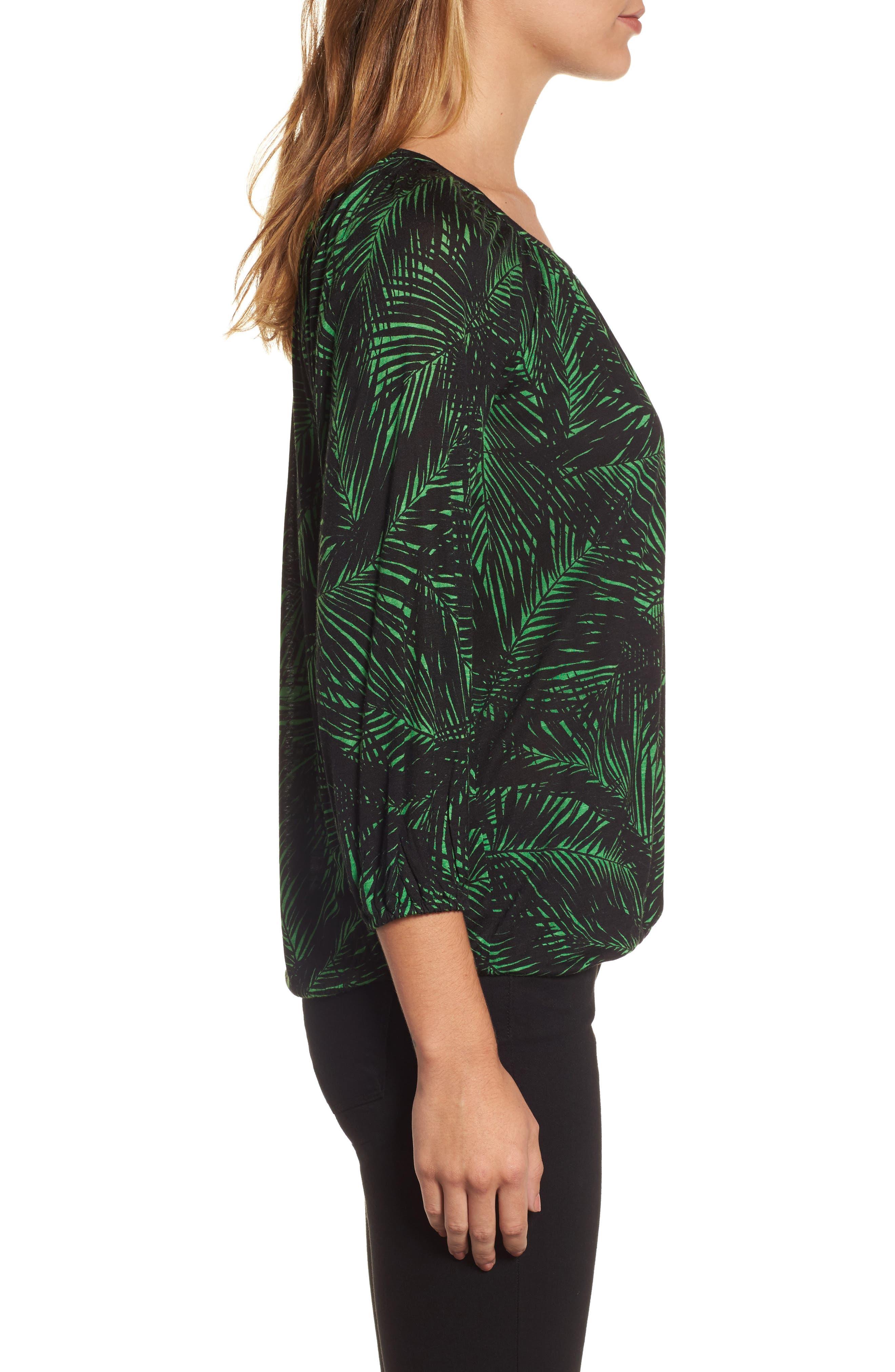 Alternate Image 3  - MICHAEL Michael Kors Palm Print Peasant Top
