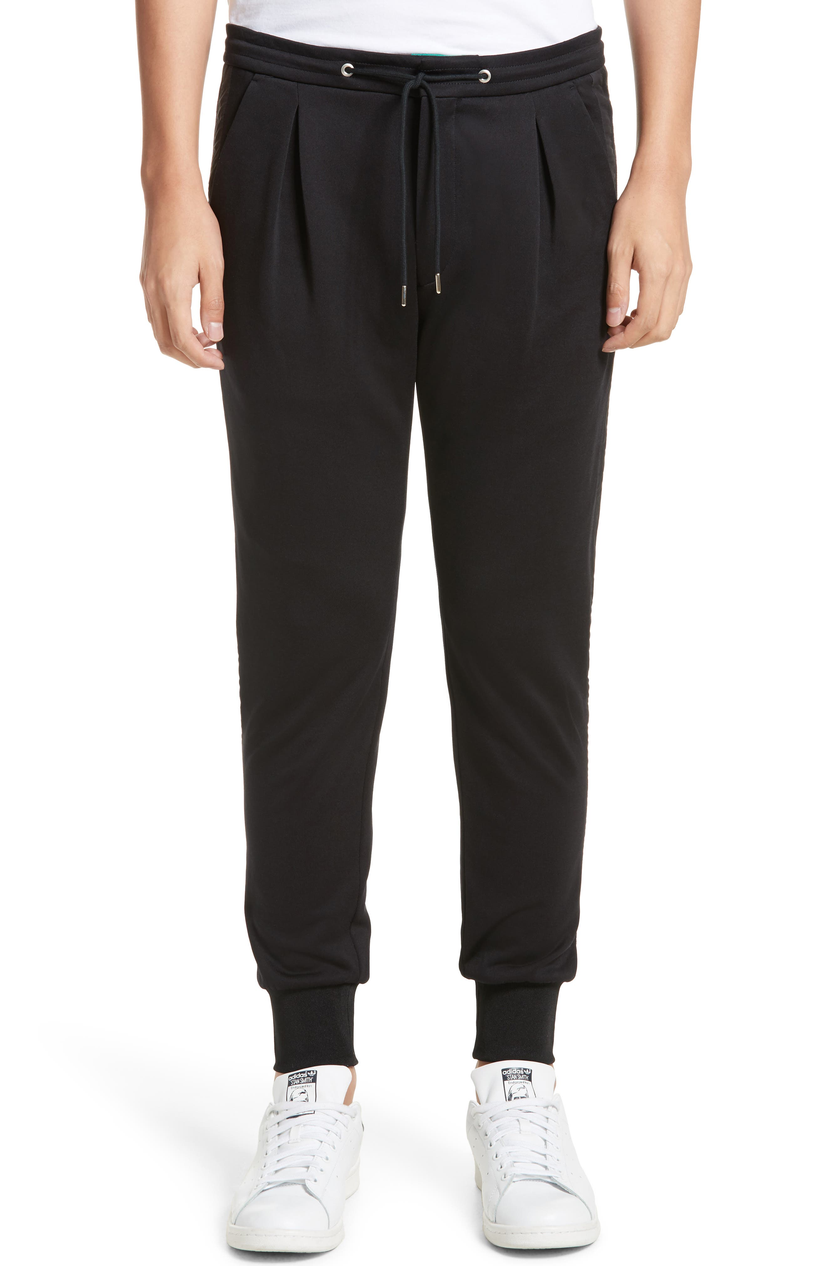 Pleated Jogger Pants,                         Main,                         color, Black