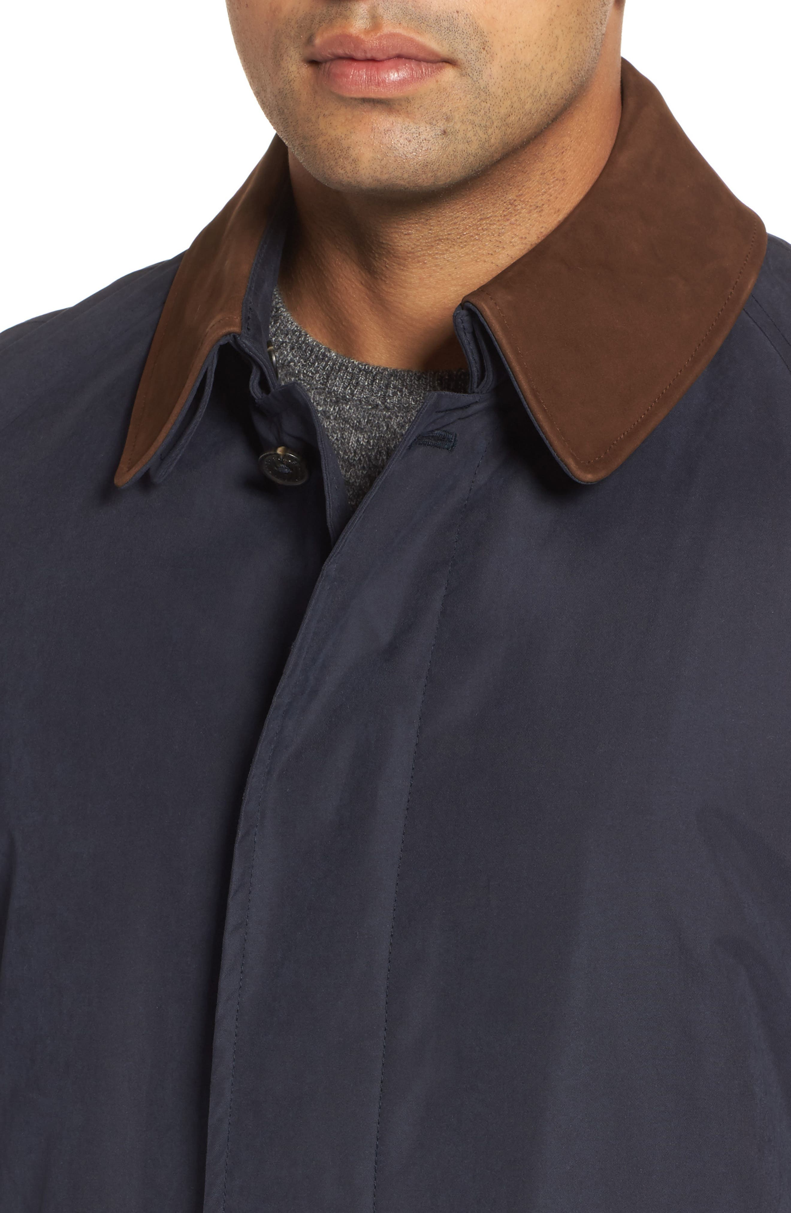 Lawrence Classic Fit Rain Coat,                             Alternate thumbnail 4, color,                             Navy