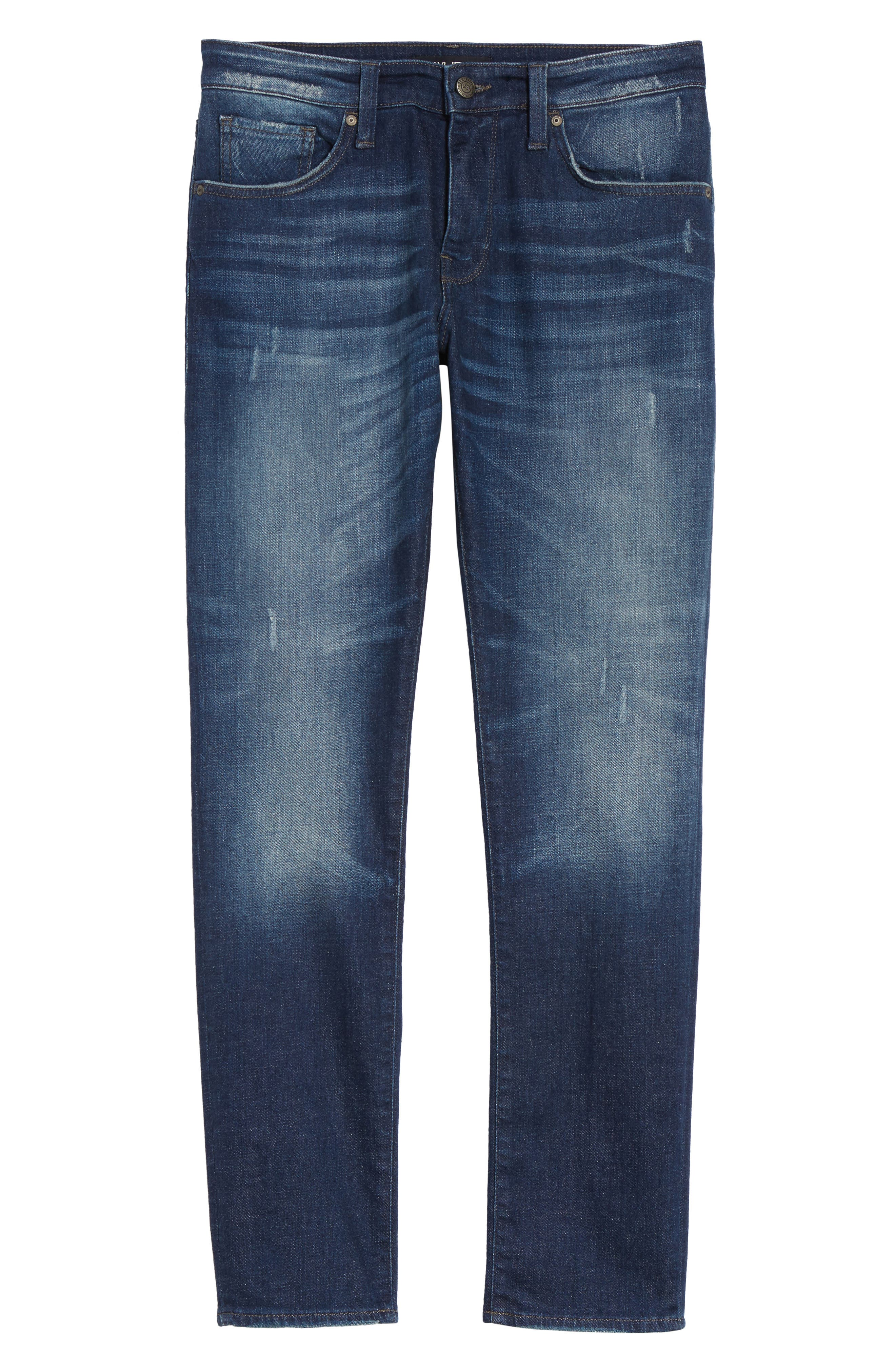 Alternate Image 6  - Mavi Jeans Jake Easy Slim Fit Jeans (Dark Brooklyn)