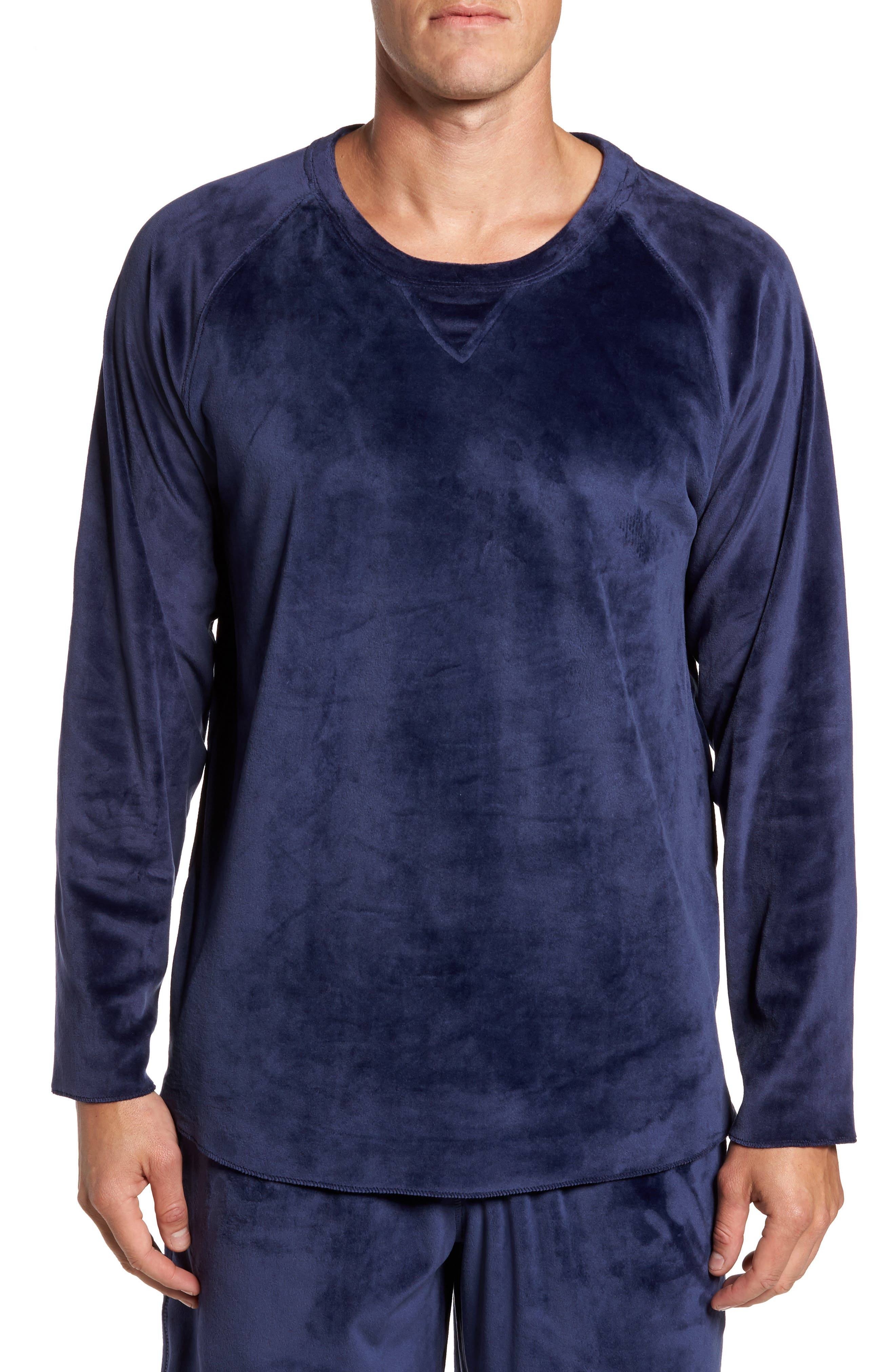 Daniel Buchler Stretch Velvet Long Sleeve T-Shirt