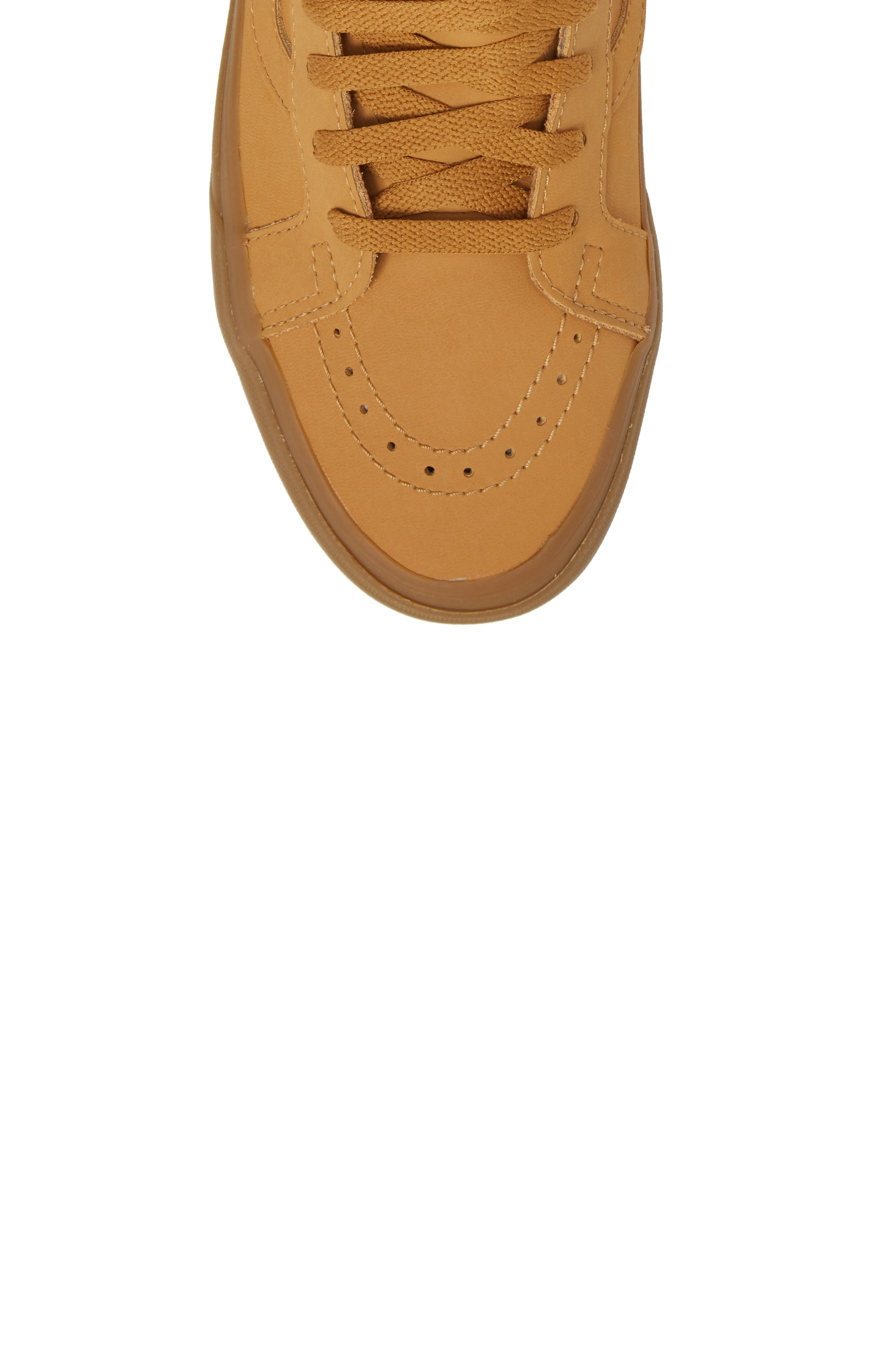'Sk8-Hi Reissue' Sneaker,                             Alternate thumbnail 4, color,                             Light Gum/ Mono Canvas/Leather