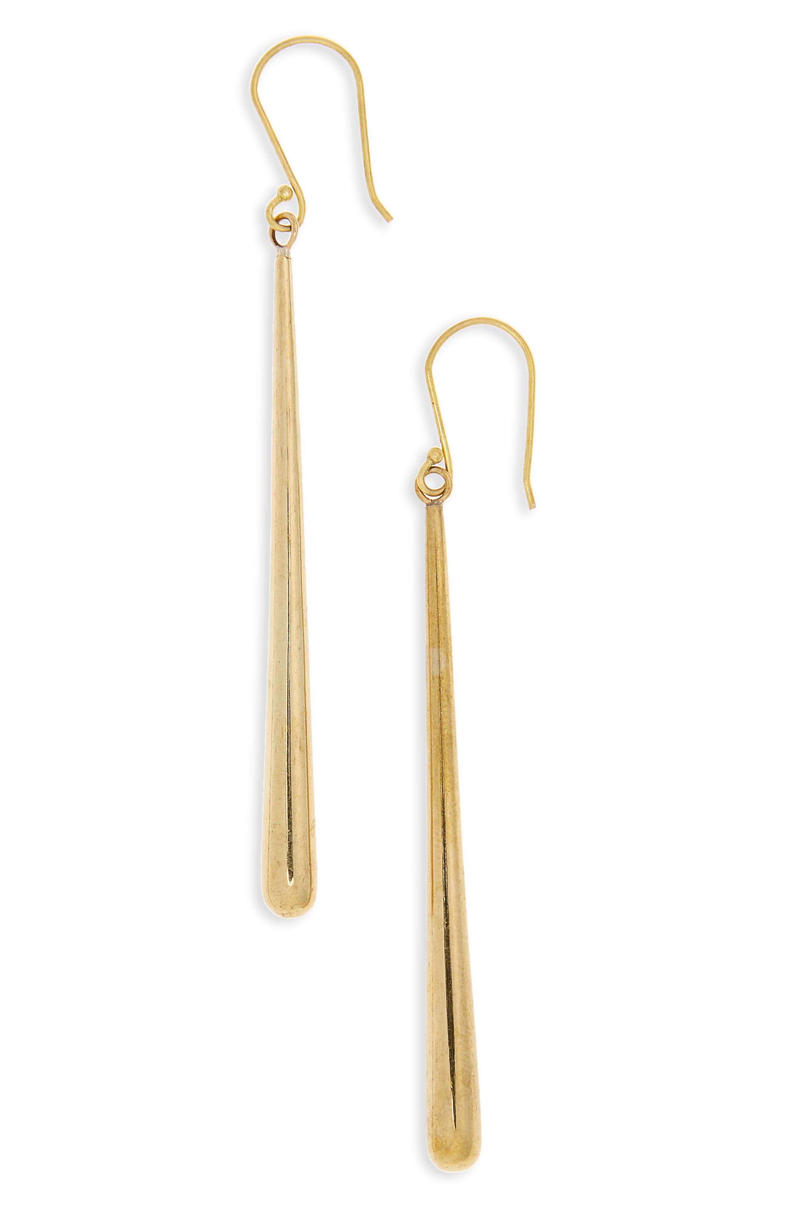 Pia Linear Earrings,                             Main thumbnail 1, color,                             Brass
