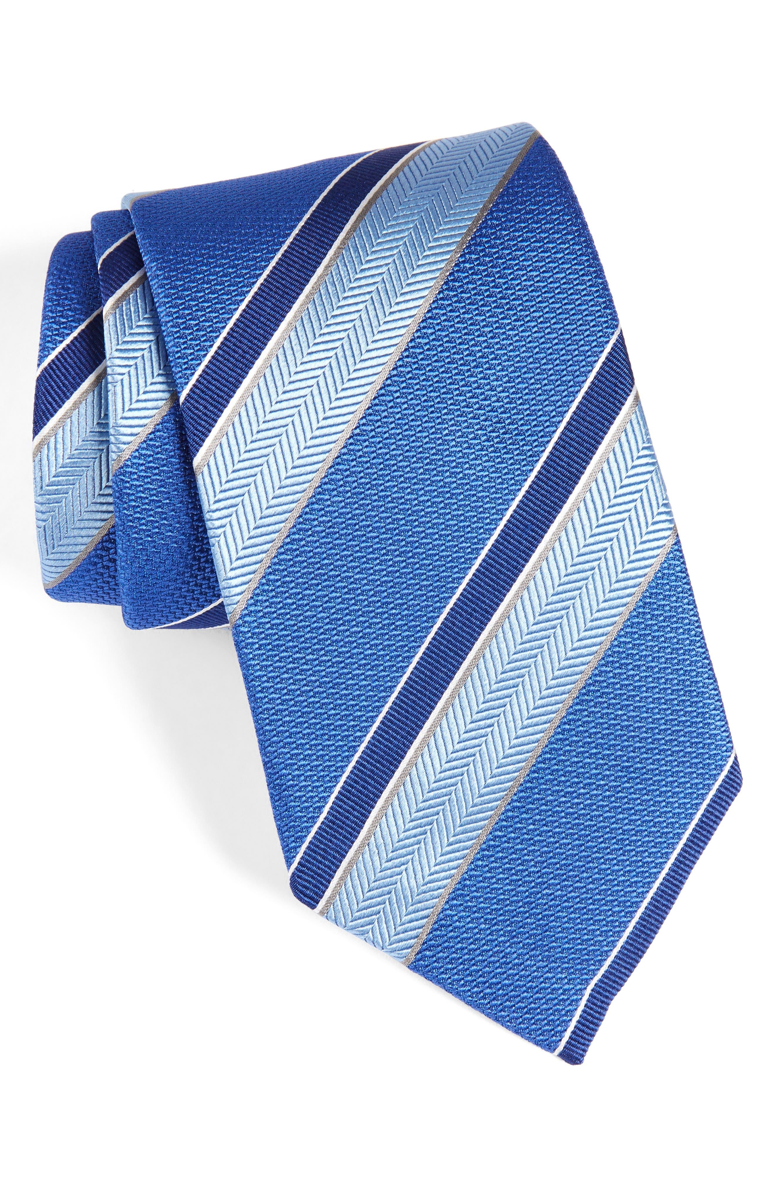 Main Image - David Donahue Stripe Silk Tie