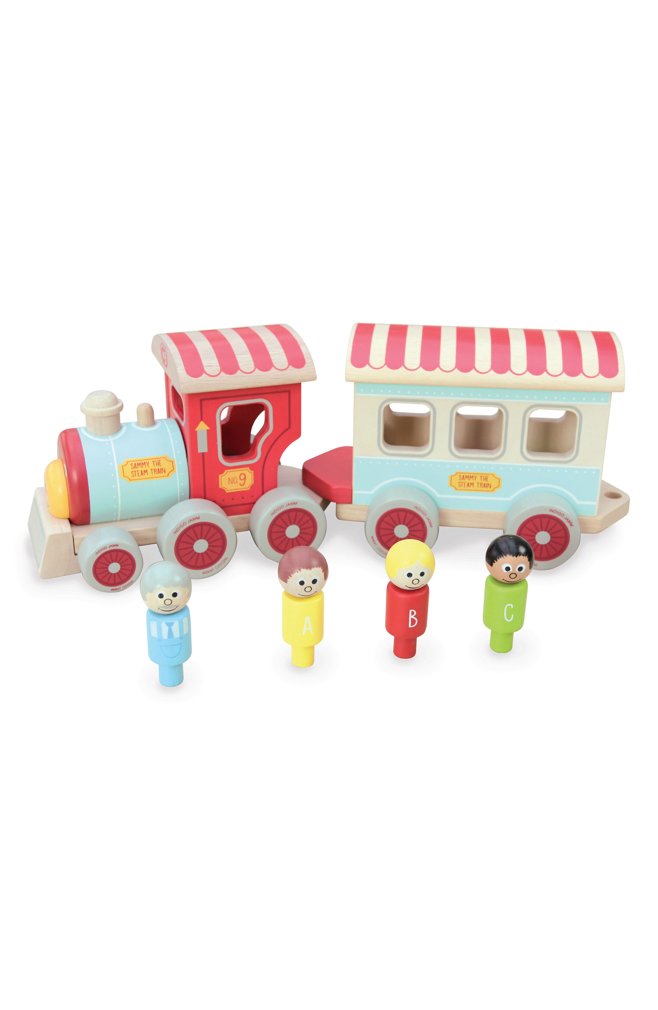 Wooden Train Toy,                         Main,                         color, Red