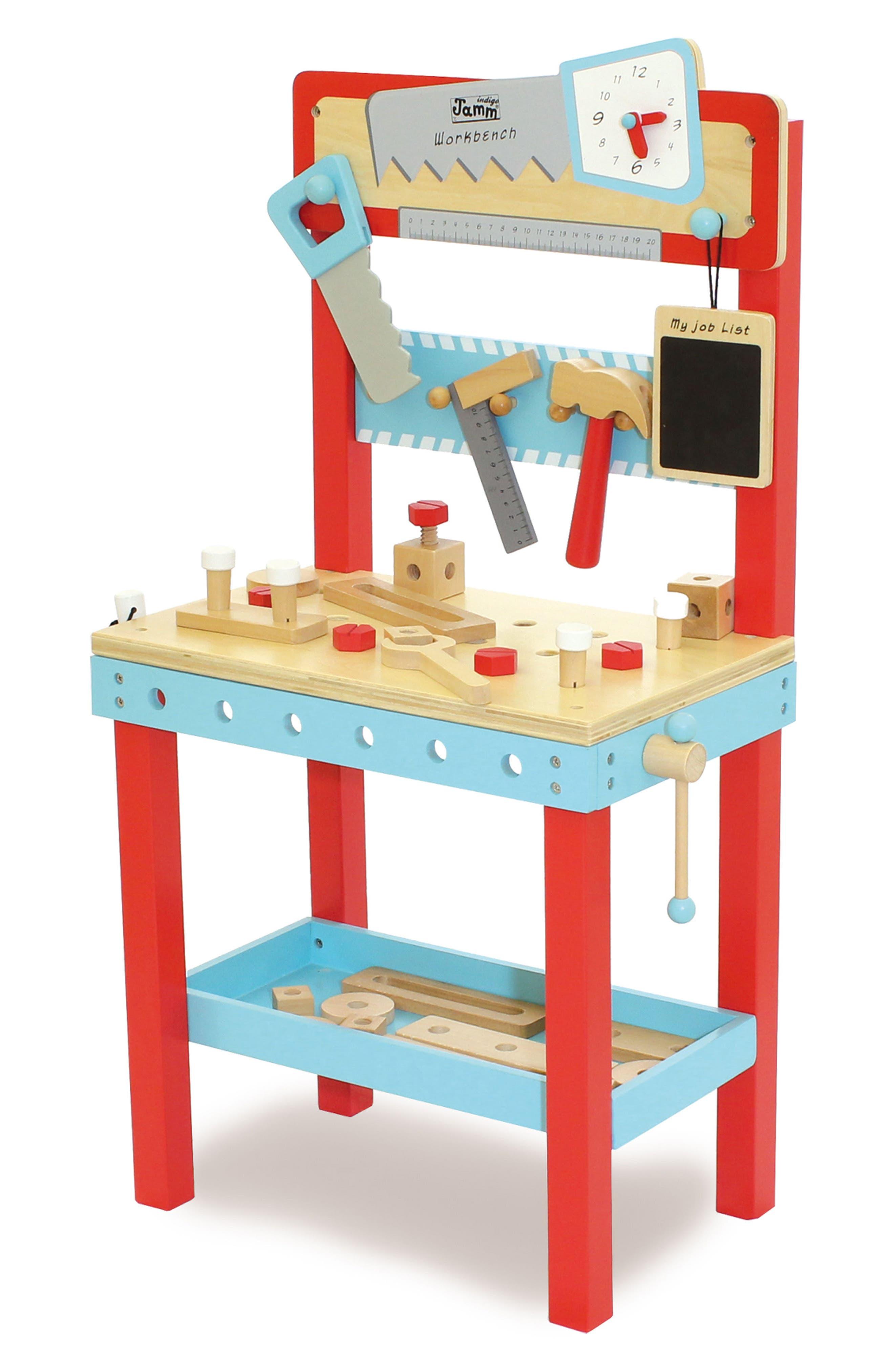 Little Carpenters Workbench,                             Main thumbnail 1, color,                             Blue