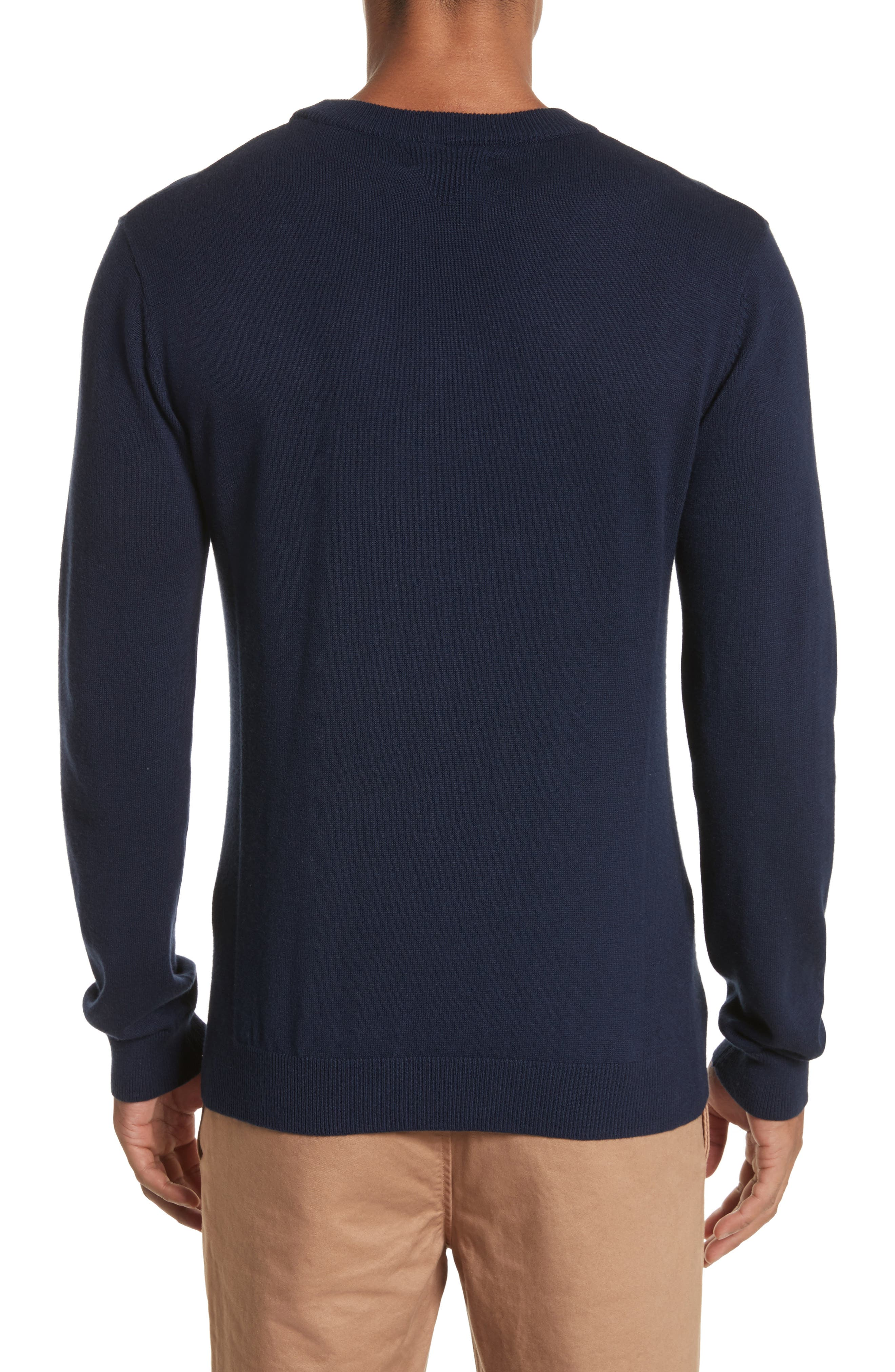 Everyday Classic Crewneck Sweater,                             Alternate thumbnail 2, color,                             Midnight