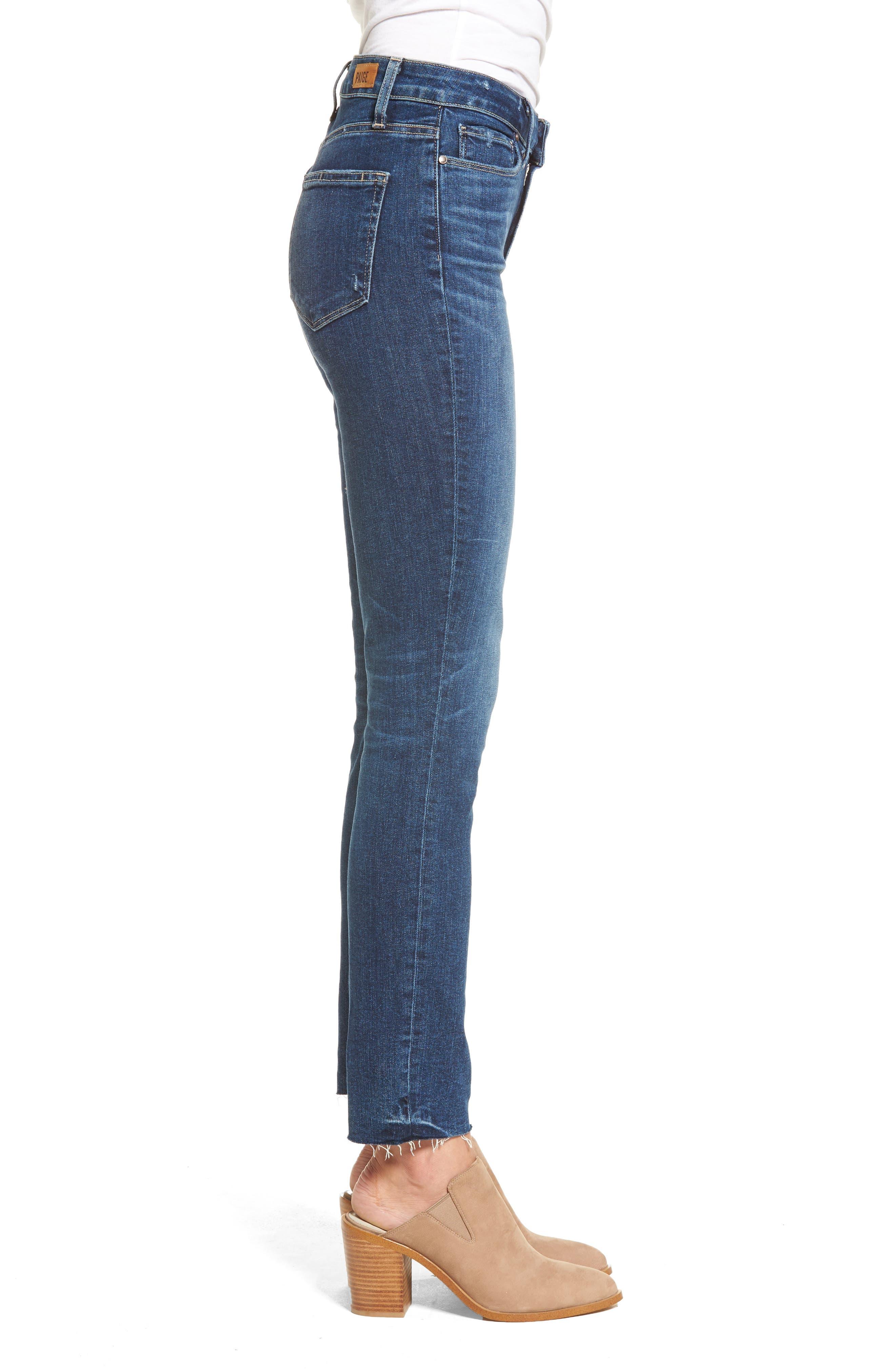 Transcend Vintage - Hoxton High Waist Ankle Peg Jeans,                             Alternate thumbnail 4, color,                             Riviera