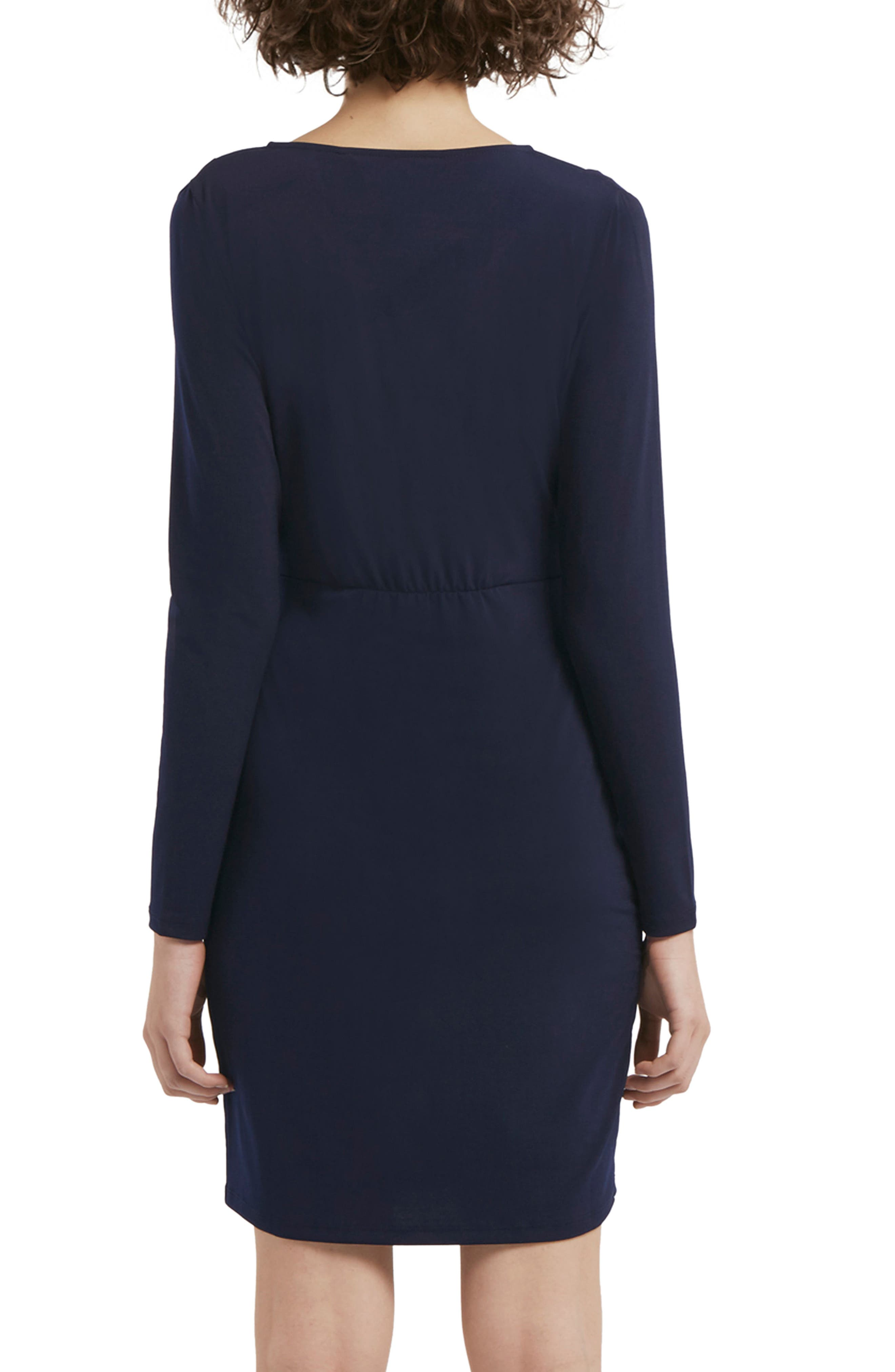 Alternate Image 2  - French Connection Slinky Faux Wrap Dress