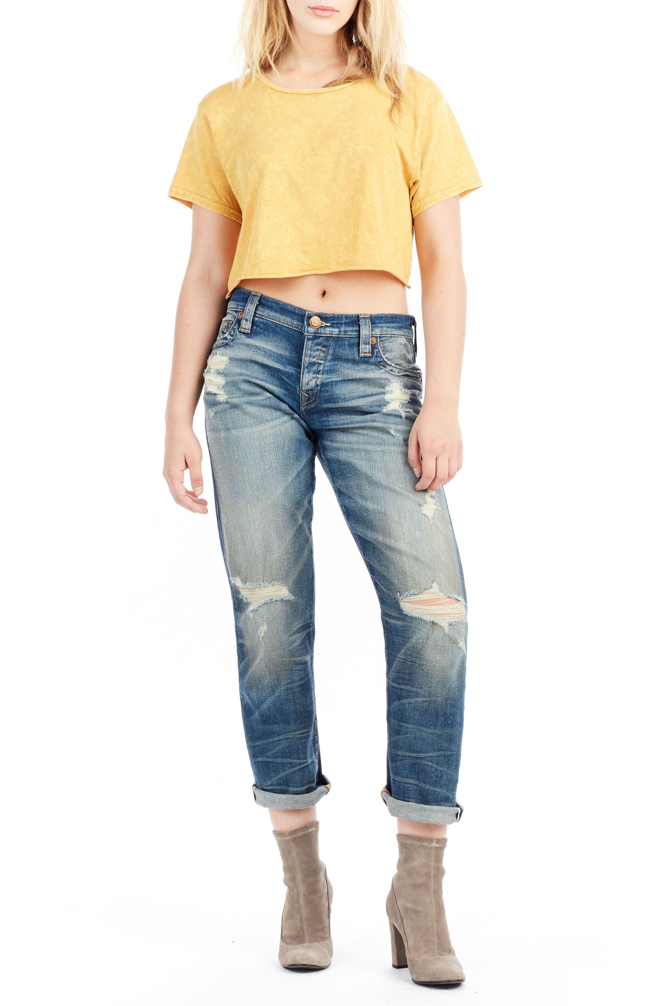 Cameron Slim Boyfriend Jeans,                             Alternate thumbnail 2, color,                             Indigo Legacy